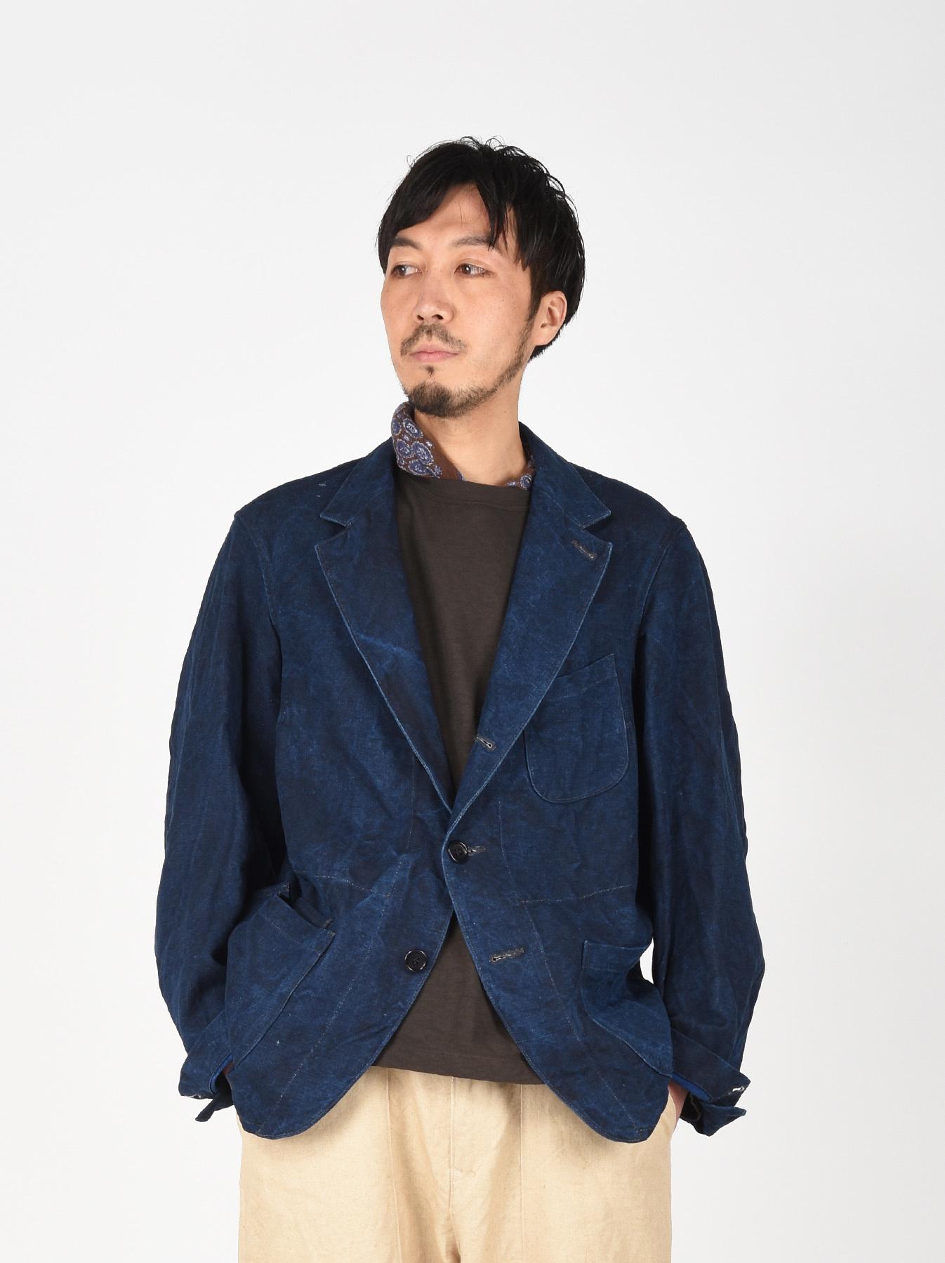 Indigo Linen Duck Asama Jacket-3