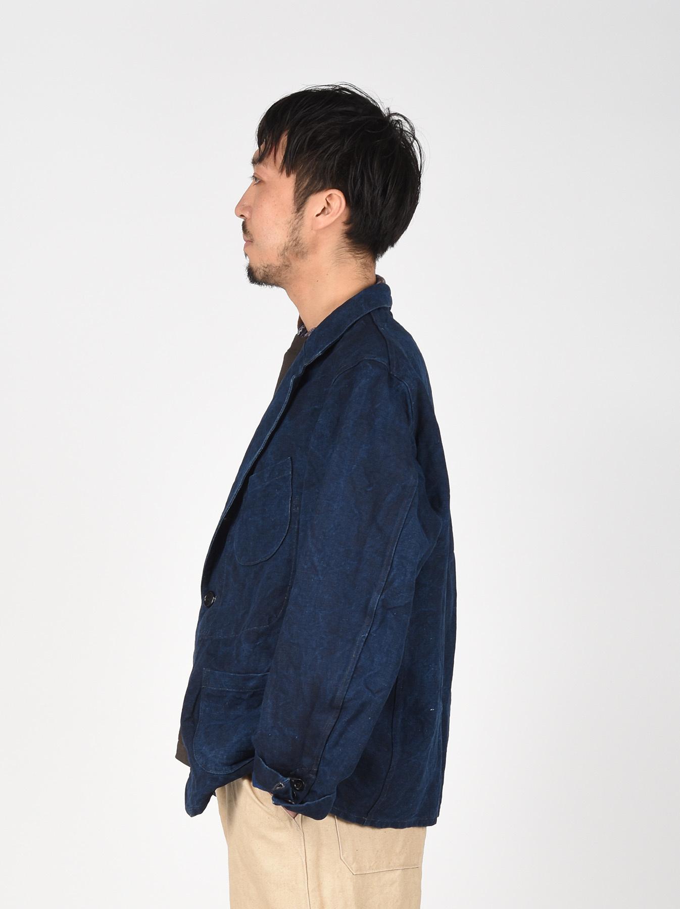 Indigo Linen Duck Asama Jacket-4