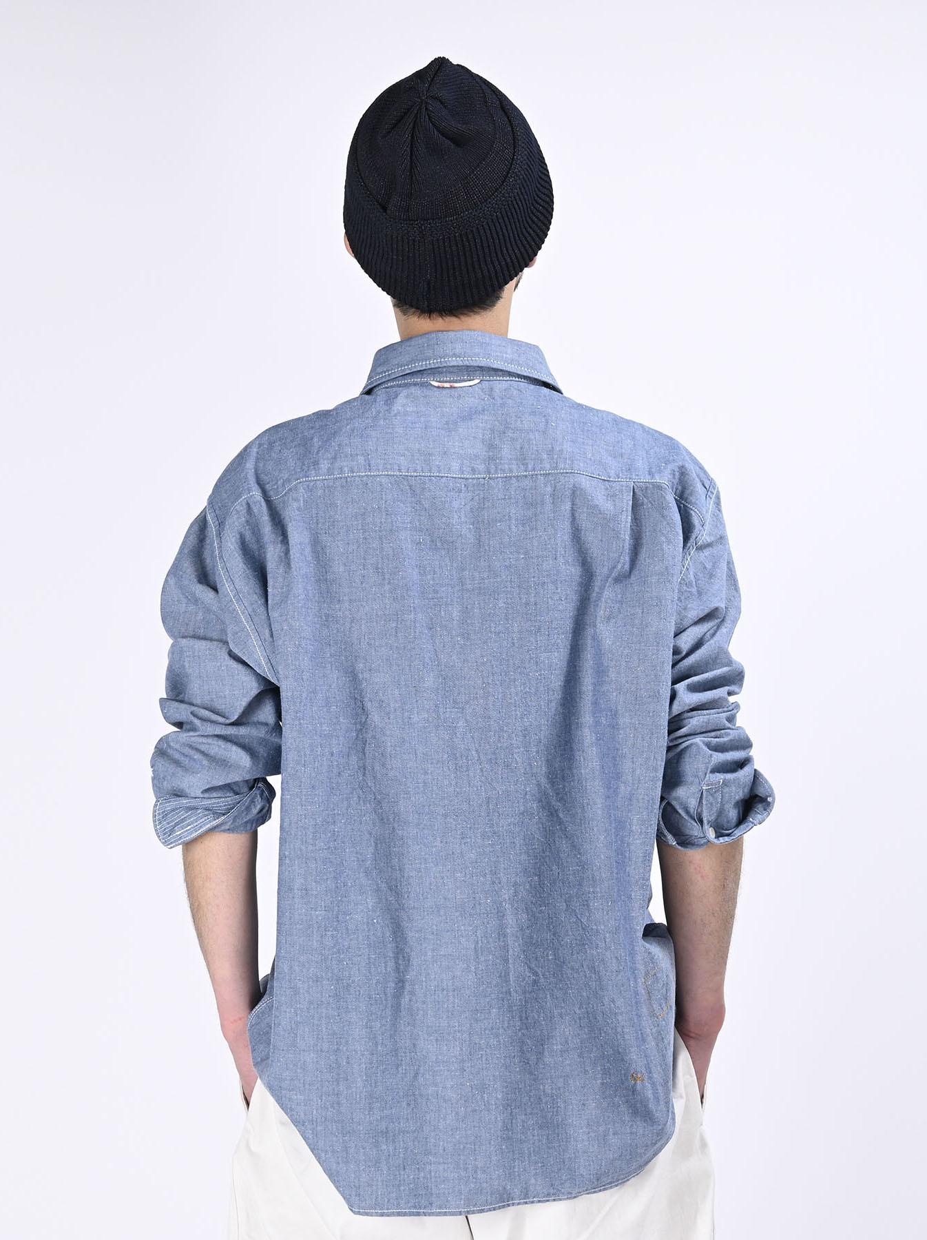 Okome-hira Dungaree 908 Ocean Work Shirt (0621)-6
