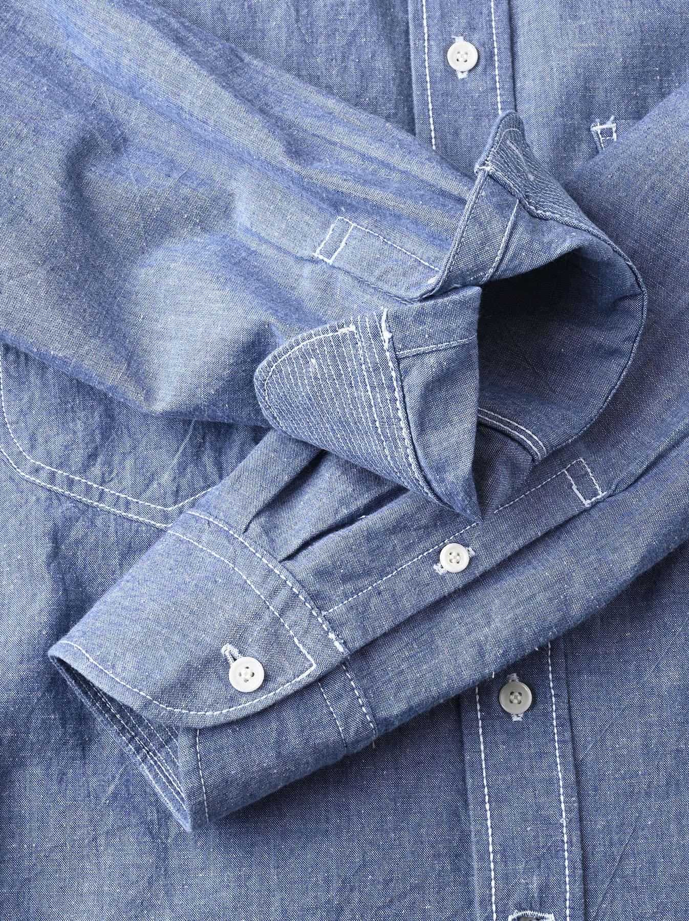 Okome-hira Dungaree 908 Ocean Work Shirt (0621)-12