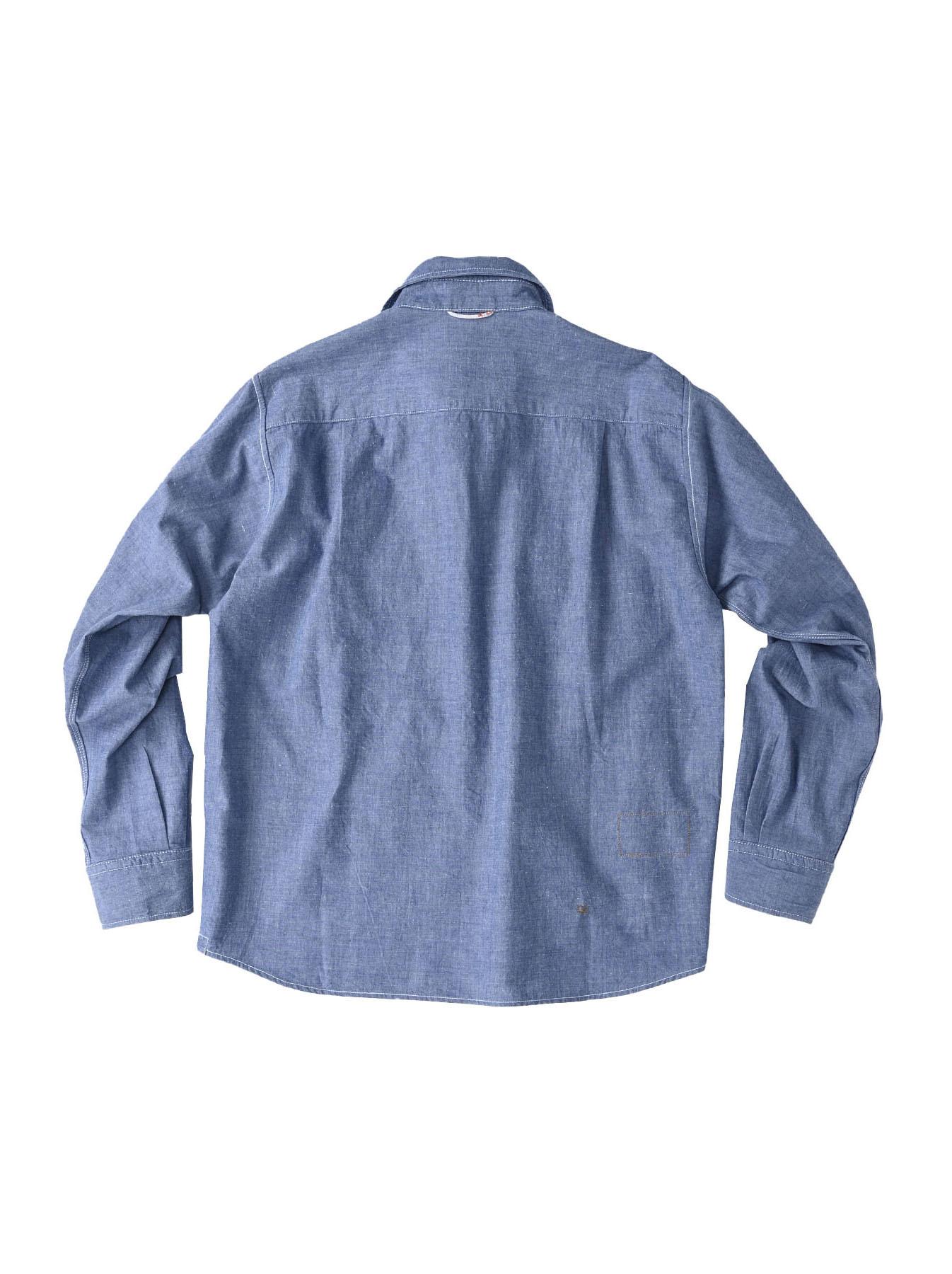Okome-hira Dungaree 908 Ocean Work Shirt (0621)-10