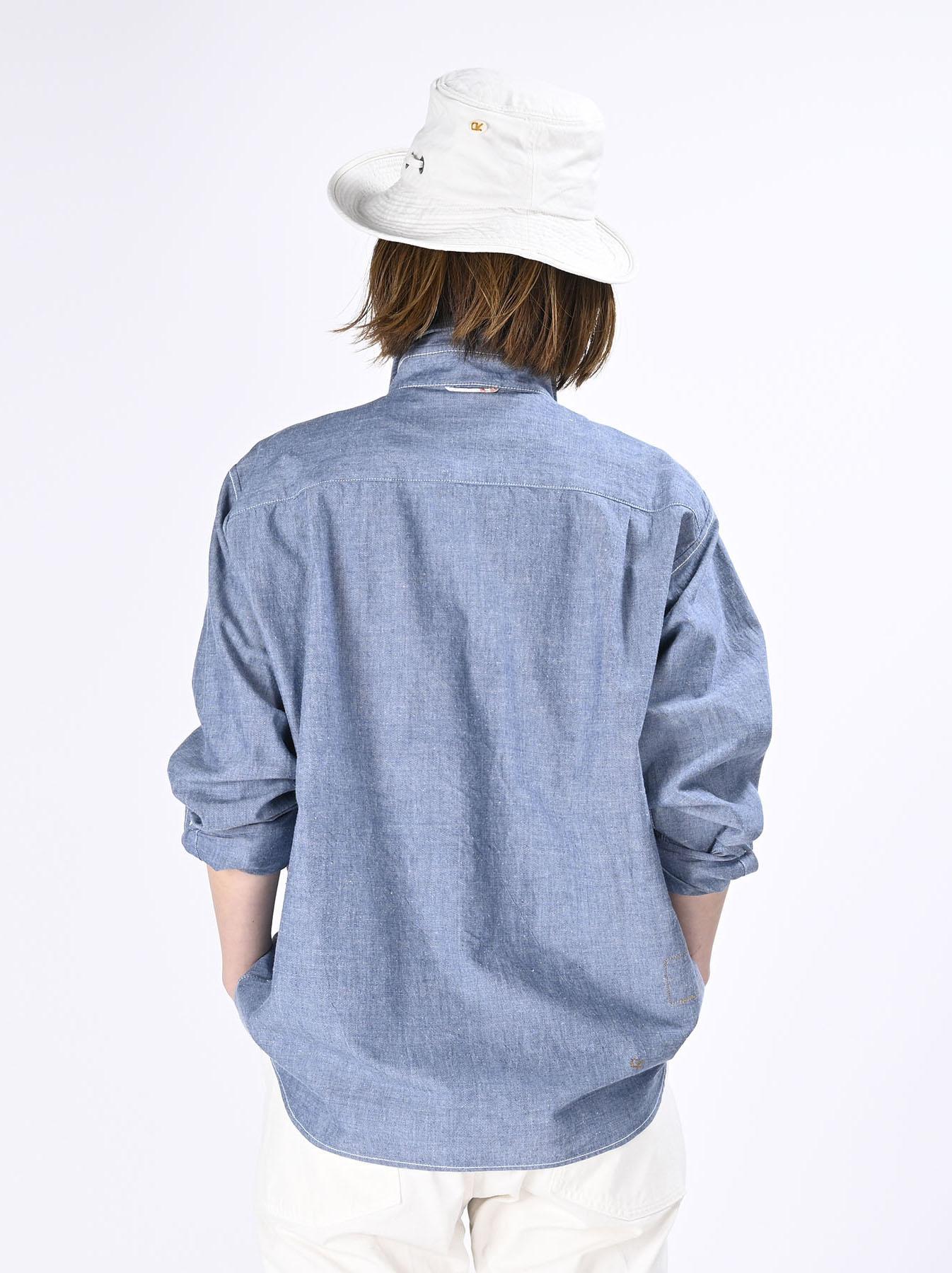 Okome-hira Dungaree 908 Ocean Work Shirt (0621)-9