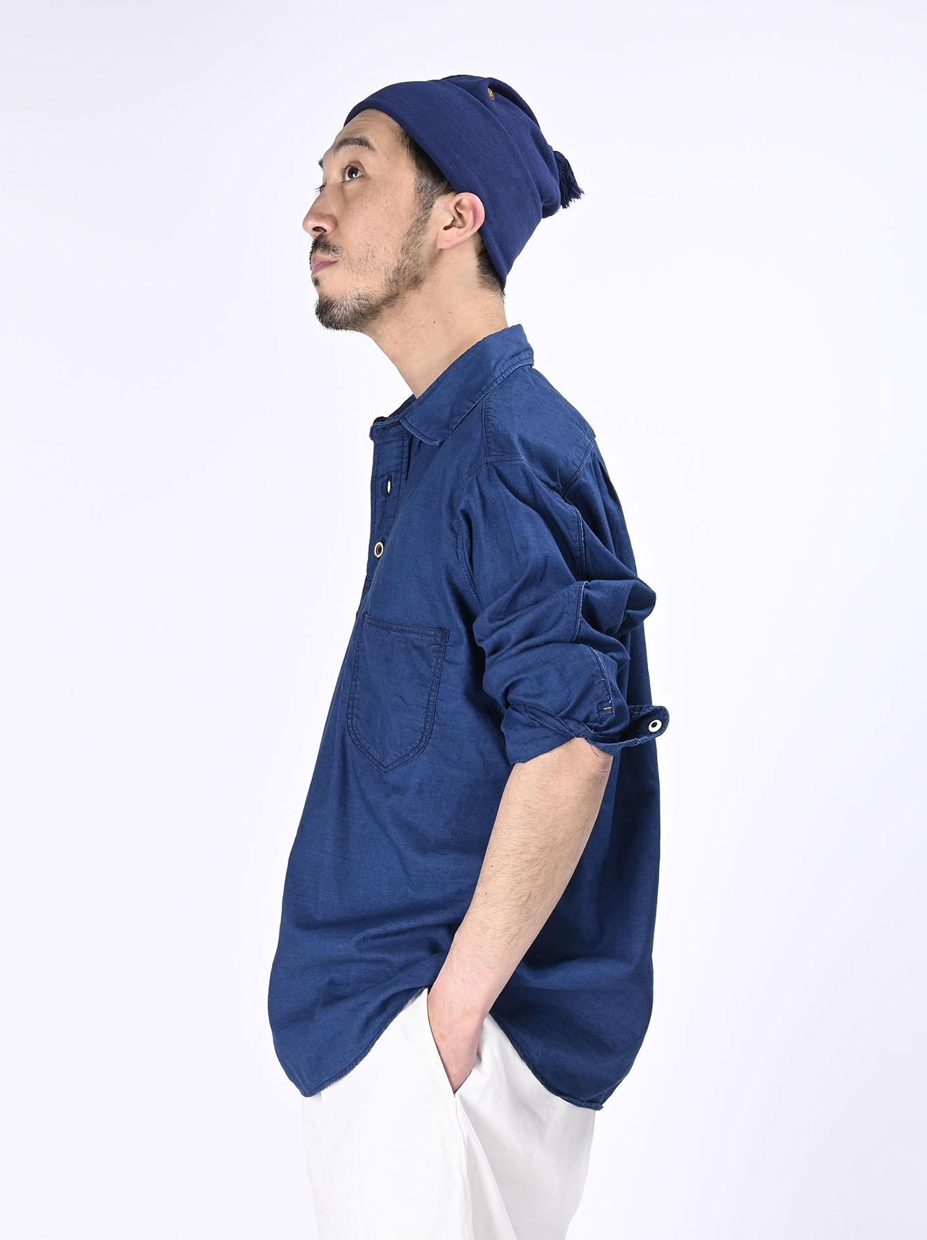 Indigo Thin Oxford Horizon Ocean Shirt (0621)-5