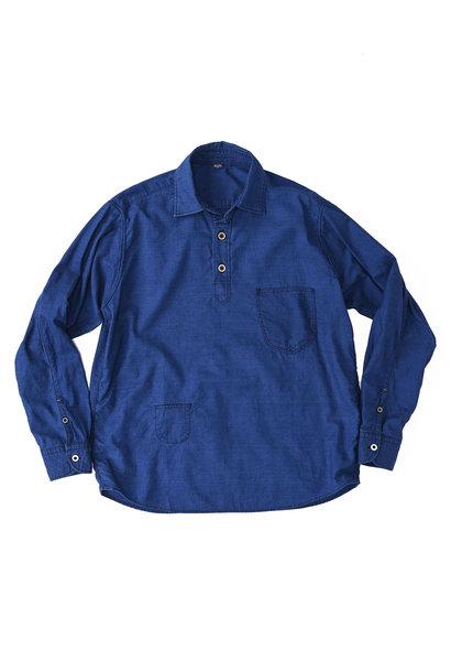 Indigo Thin Oxford Horizon Ocean Shirt (0621)