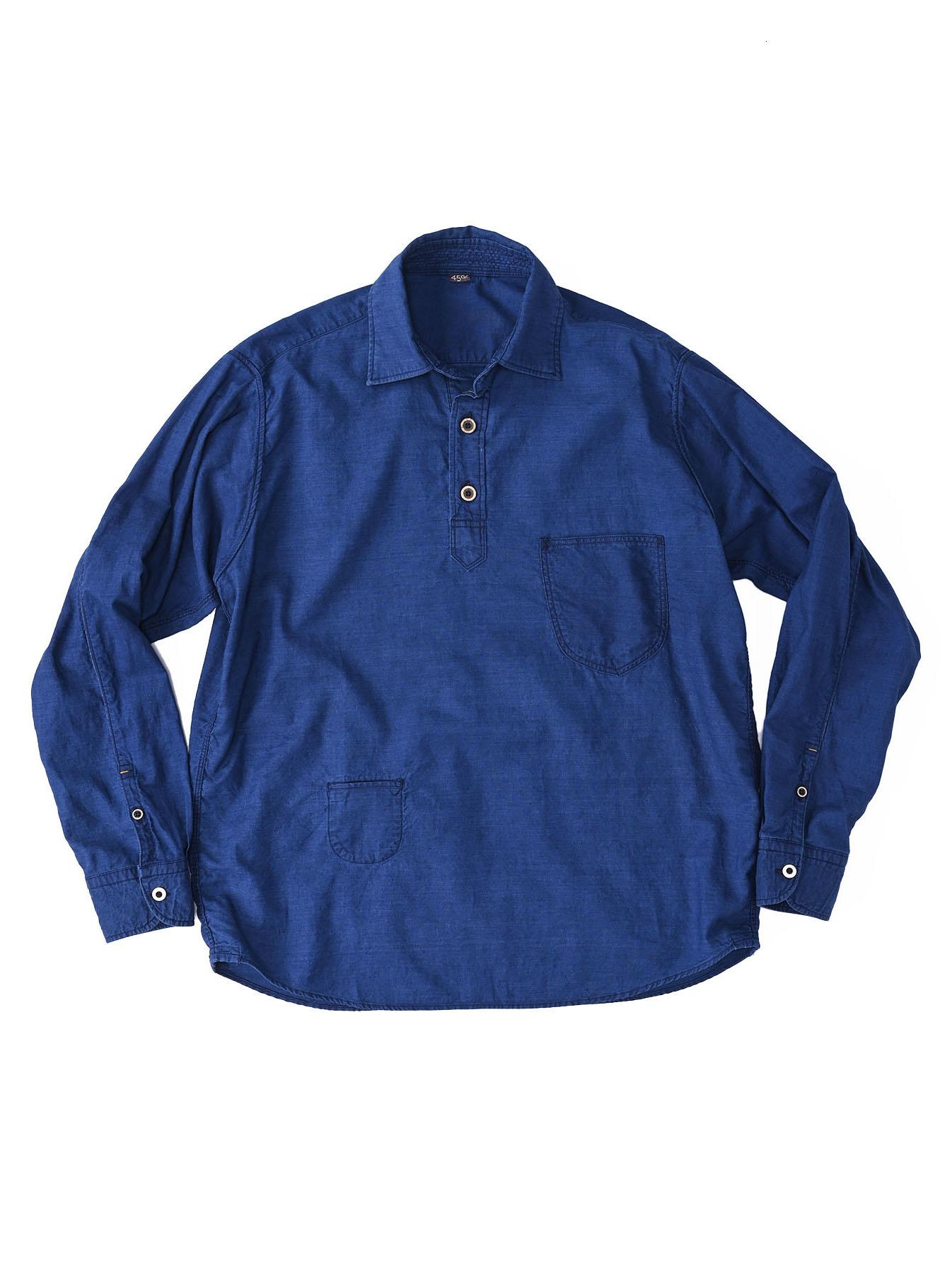 Indigo Thin Oxford Horizon Ocean Shirt (0621)-1