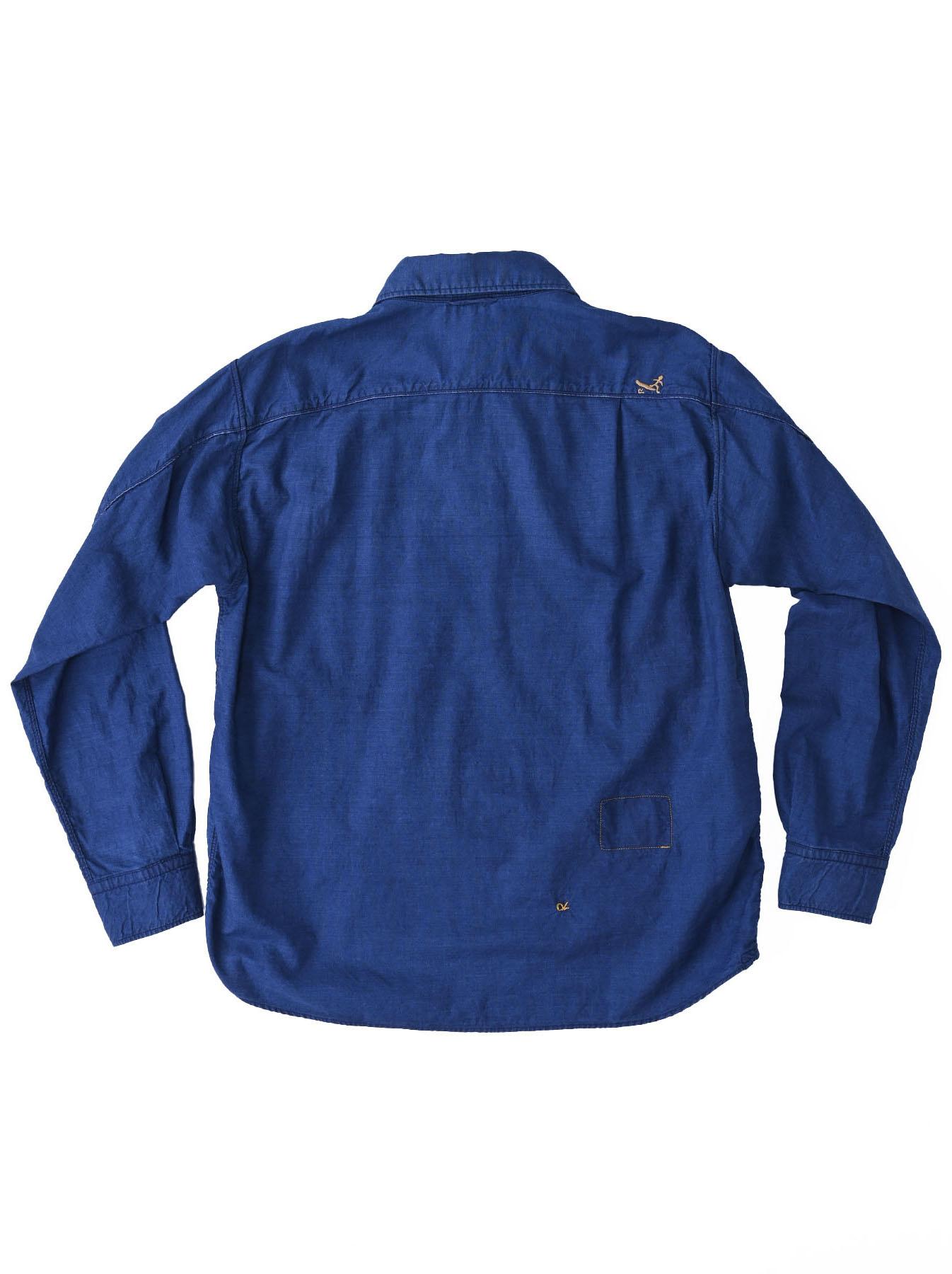 Indigo Thin Oxford Horizon Ocean Shirt (0621)-10