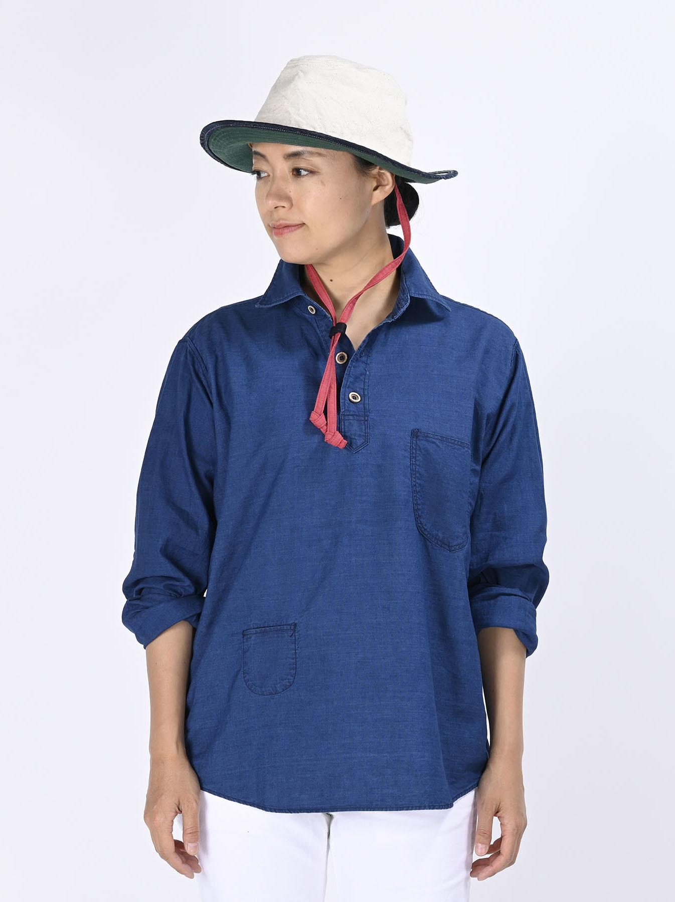 Indigo Thin Oxford Horizon Ocean Shirt (0621)-7