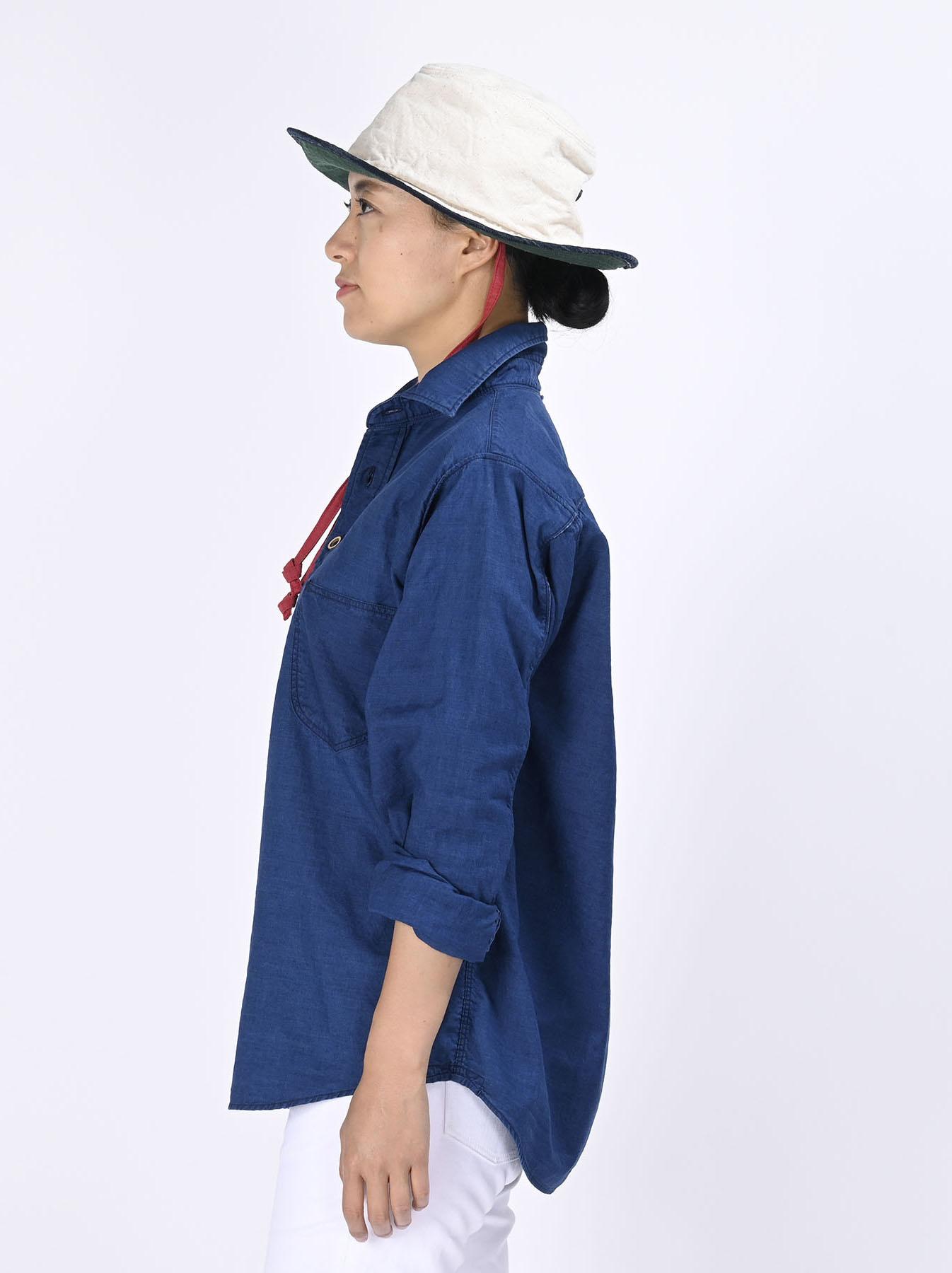 Indigo Thin Oxford Horizon Ocean Shirt (0621)-8