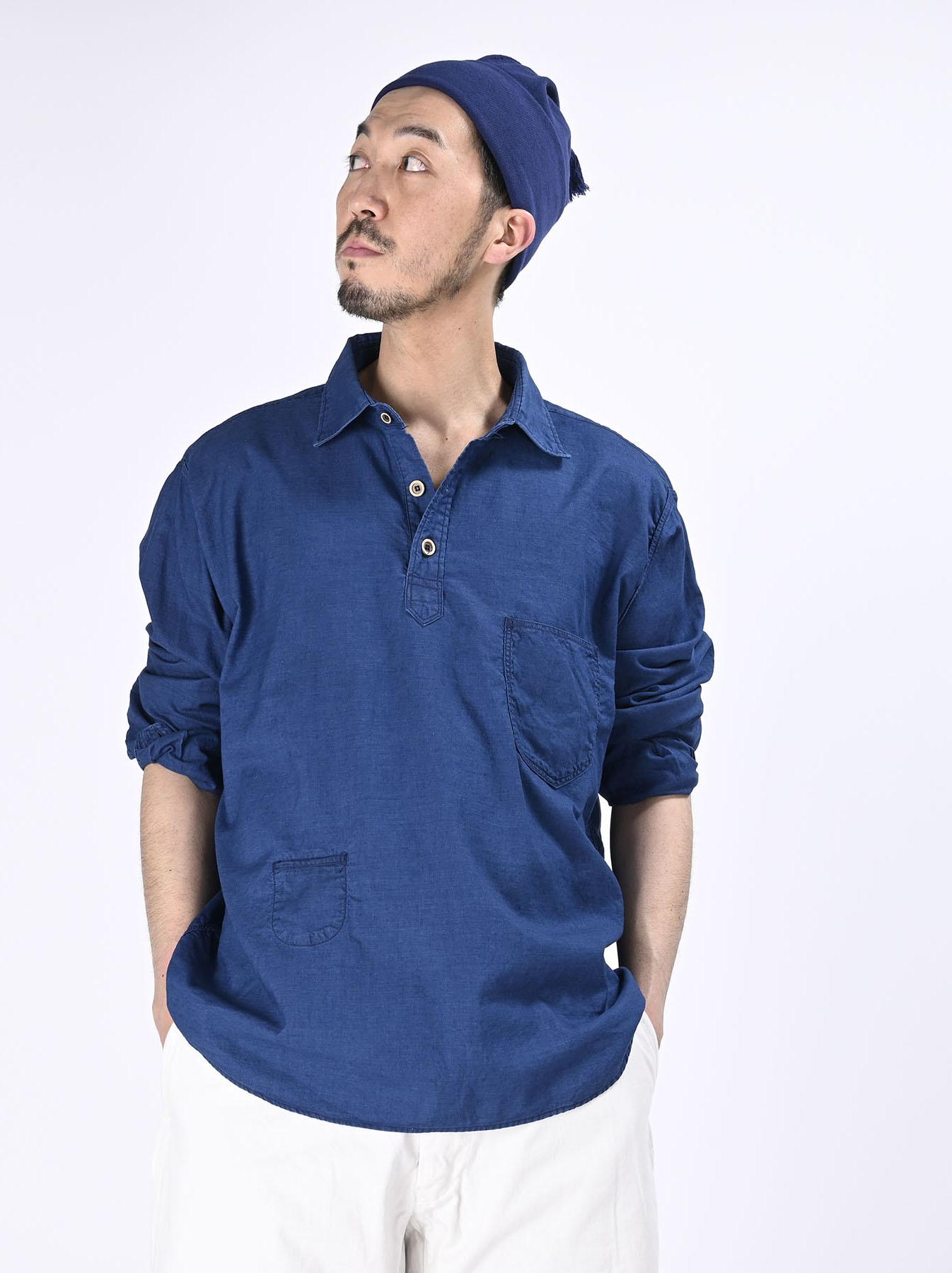Indigo Thin Oxford Horizon Ocean Shirt (0621)-4