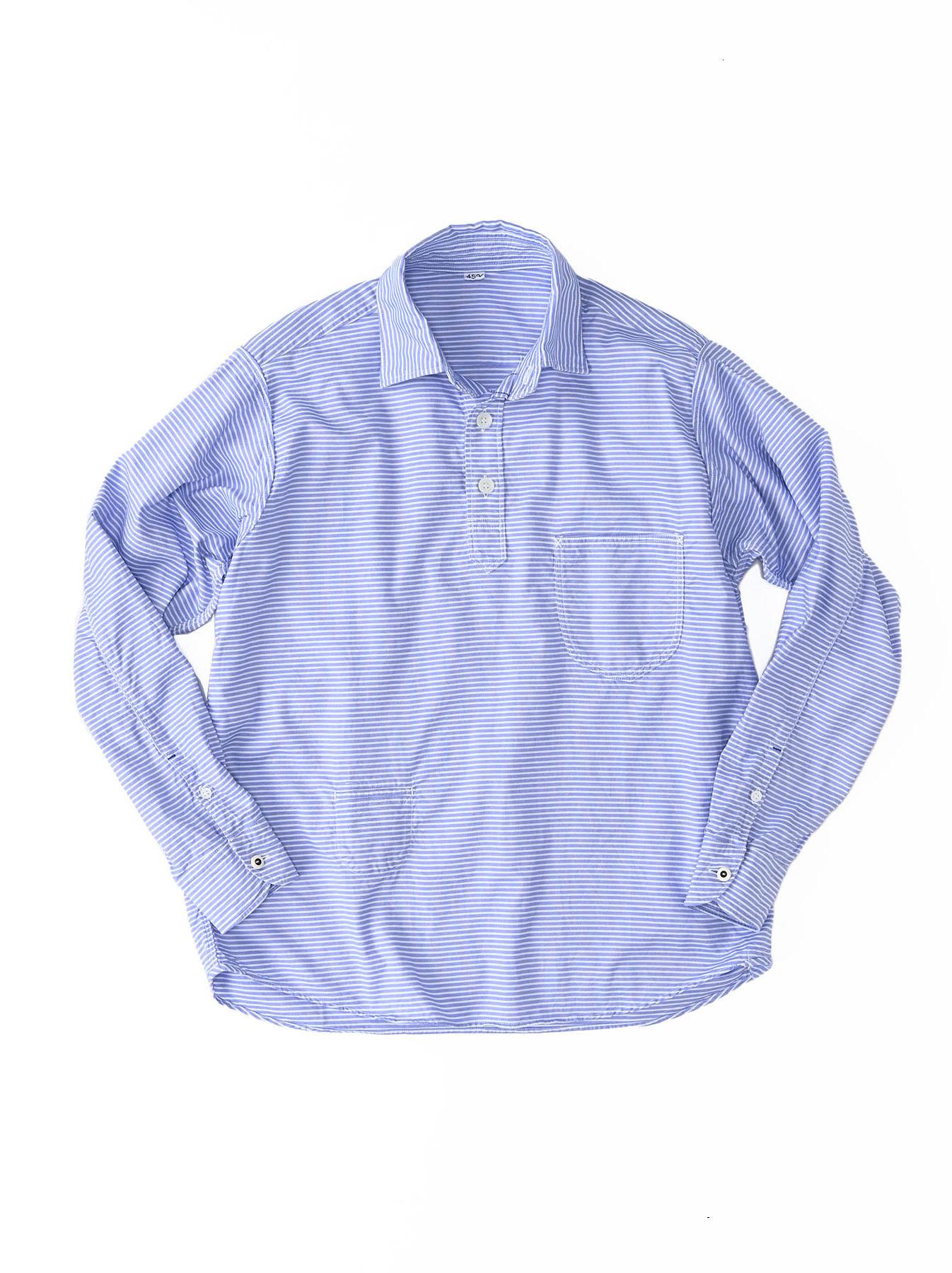 Thin Oxford Horizon Ocean Shirt (0621)-1
