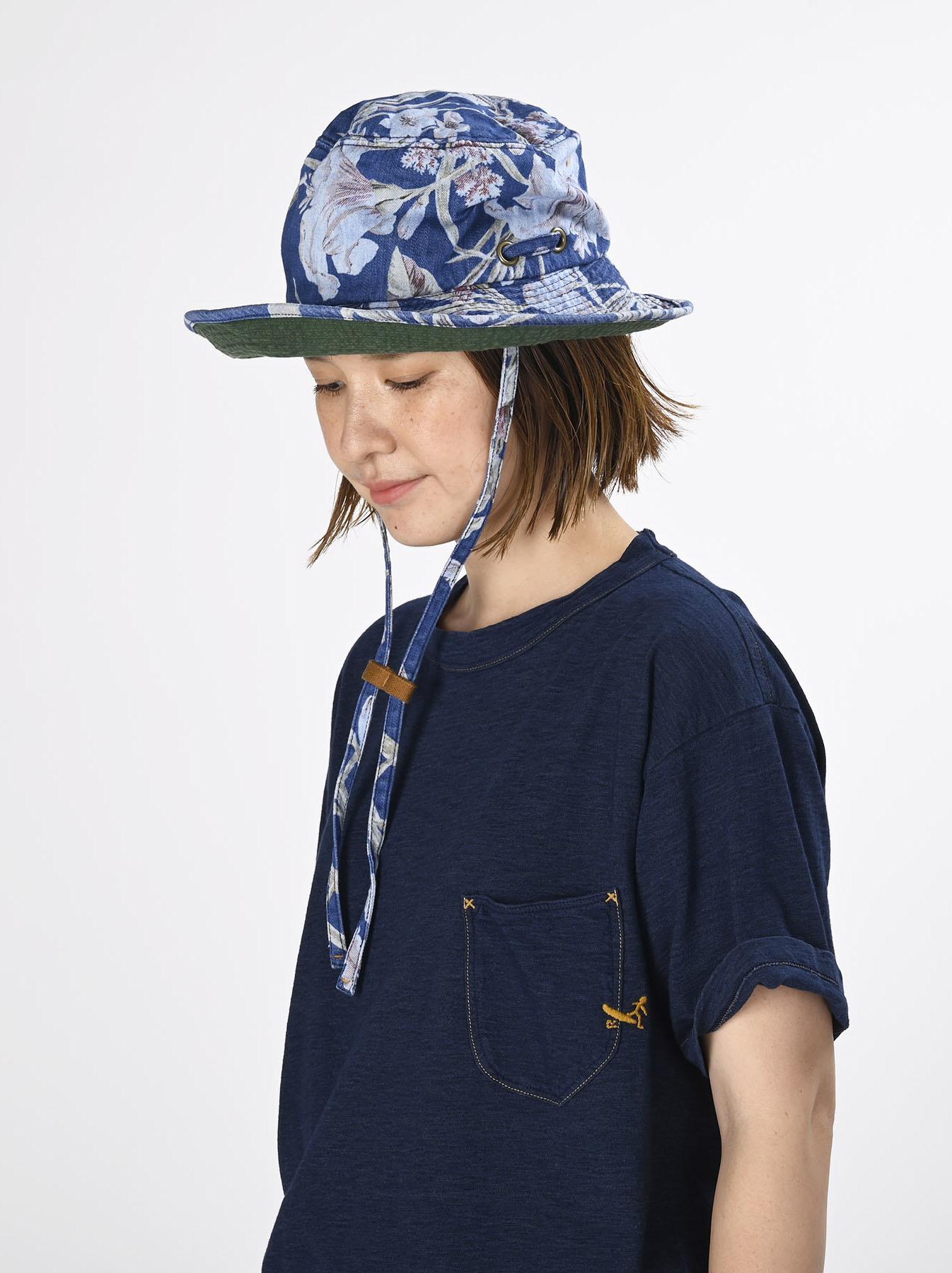 Cotton Lily Print Sail Hat (0621)-2