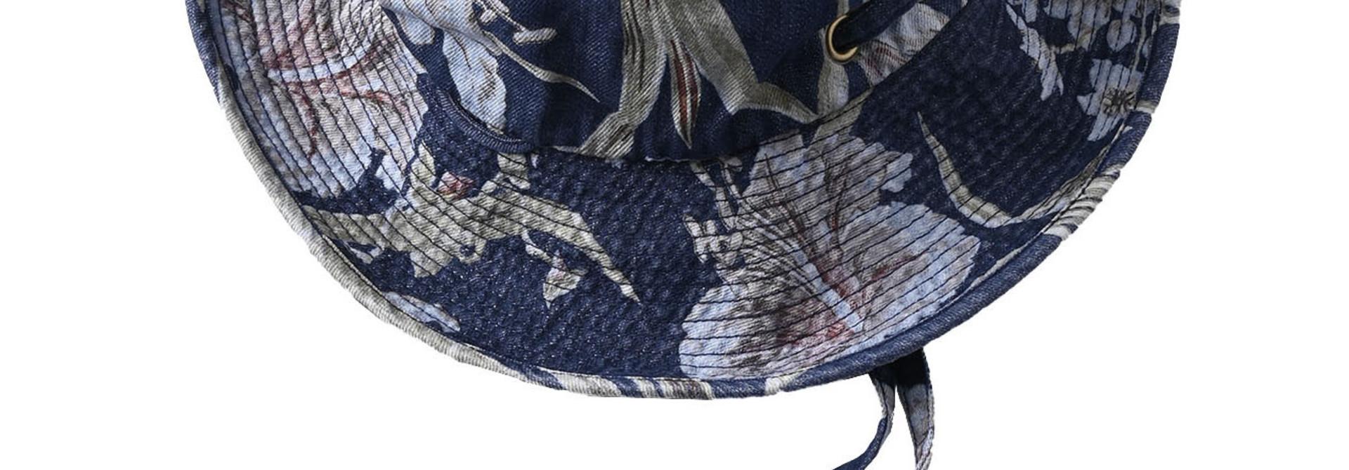 Cotton Lily Print Sail Hat (0621)