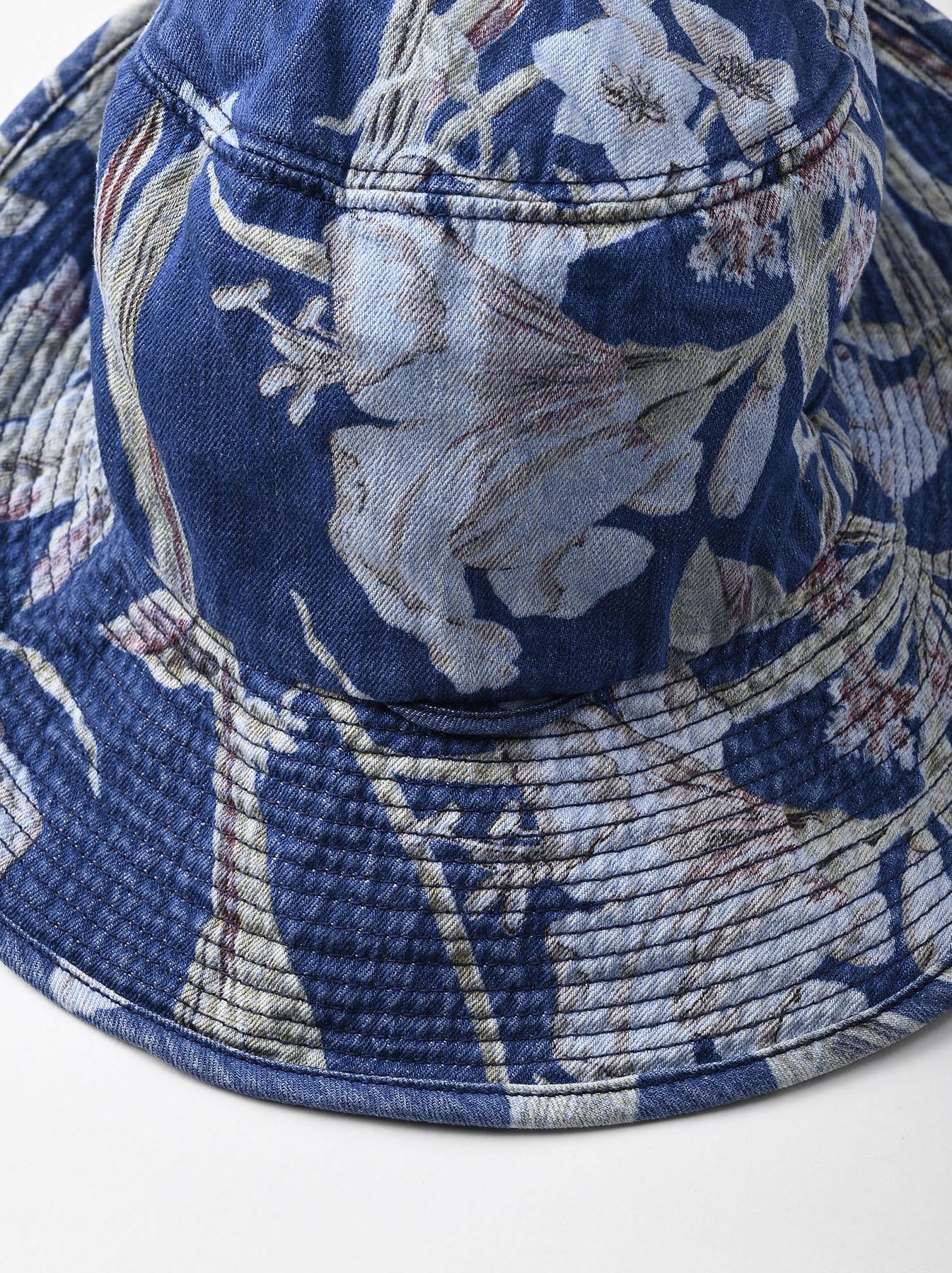 Cotton Lily Print Sail Hat (0621)-4