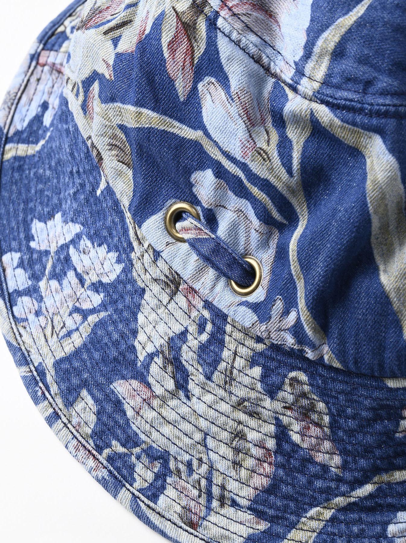 Cotton Lily Print Sail Hat (0621)-5