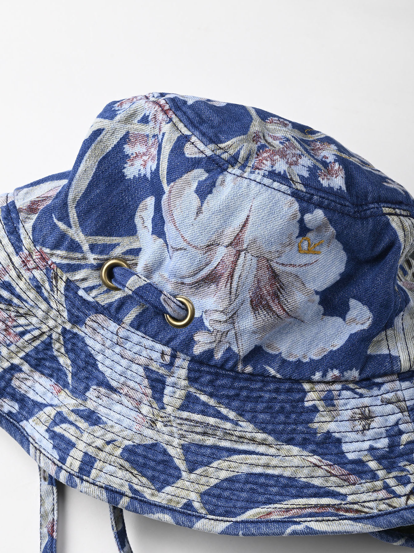 Cotton Lily Print Sail Hat (0621)-6