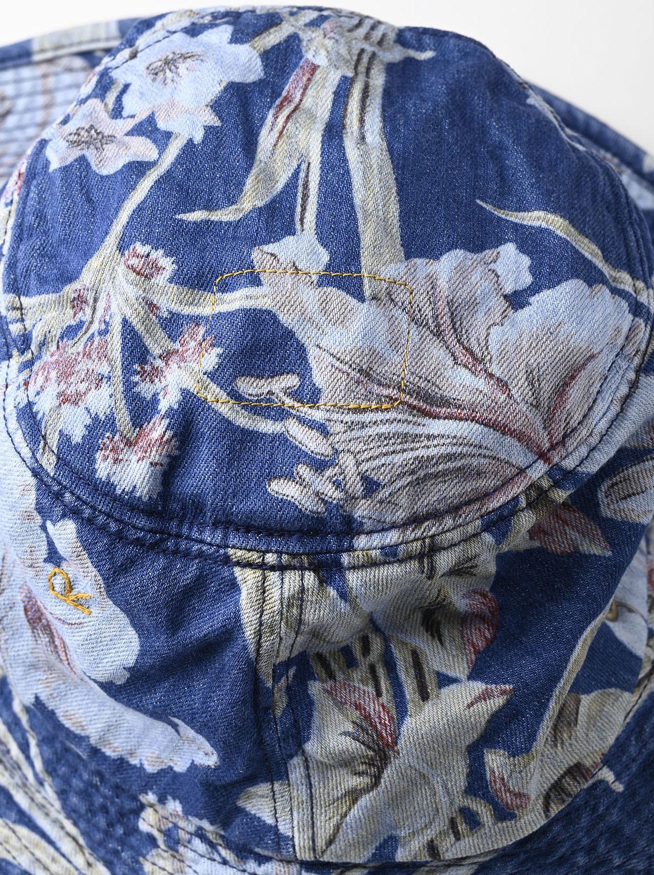 Cotton Lily Print Sail Hat (0621)-7
