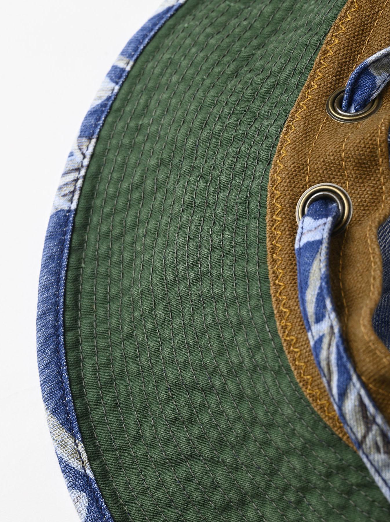 Cotton Lily Print Sail Hat (0621)-8