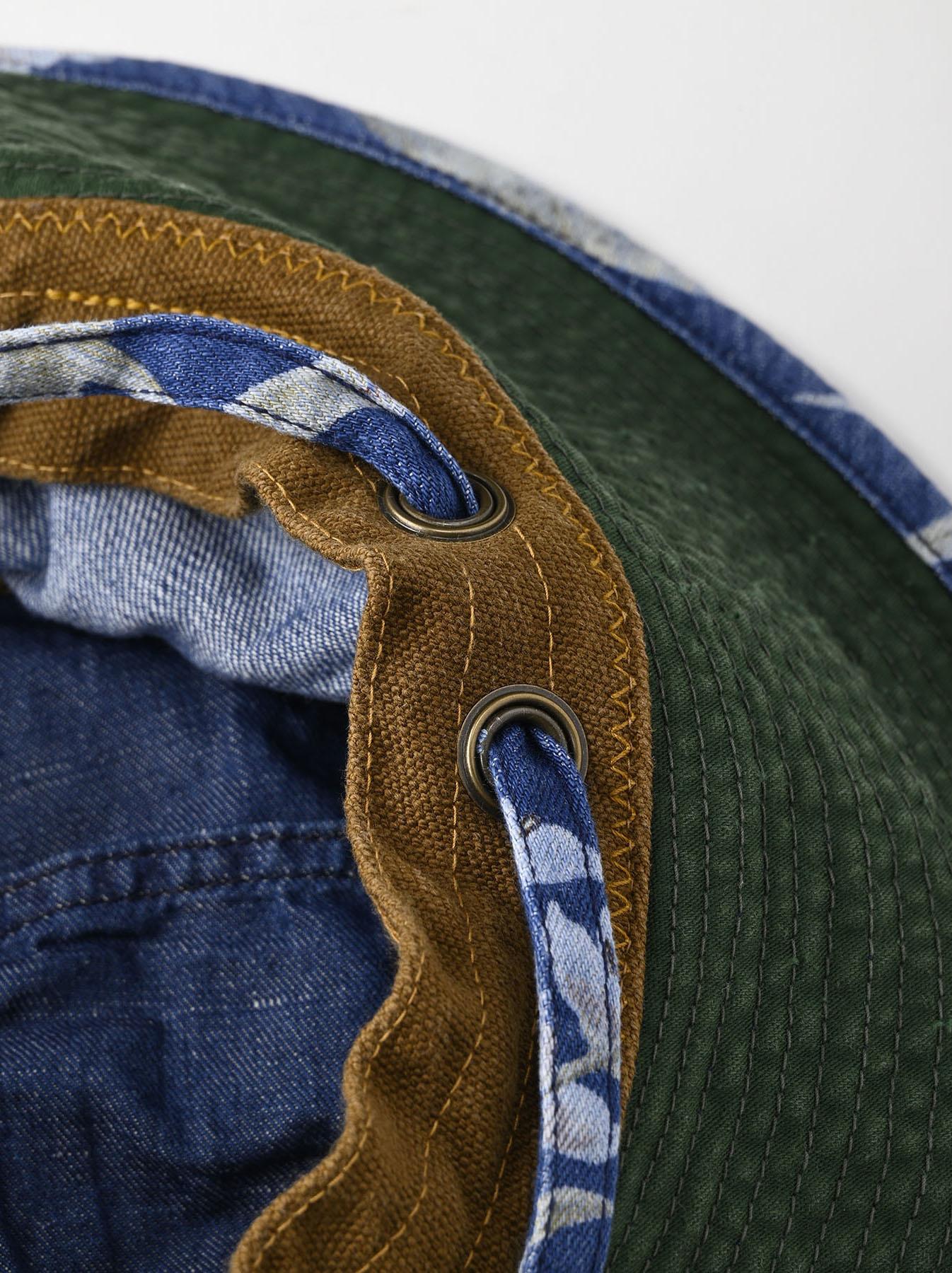Cotton Lily Print Sail Hat (0621)-9