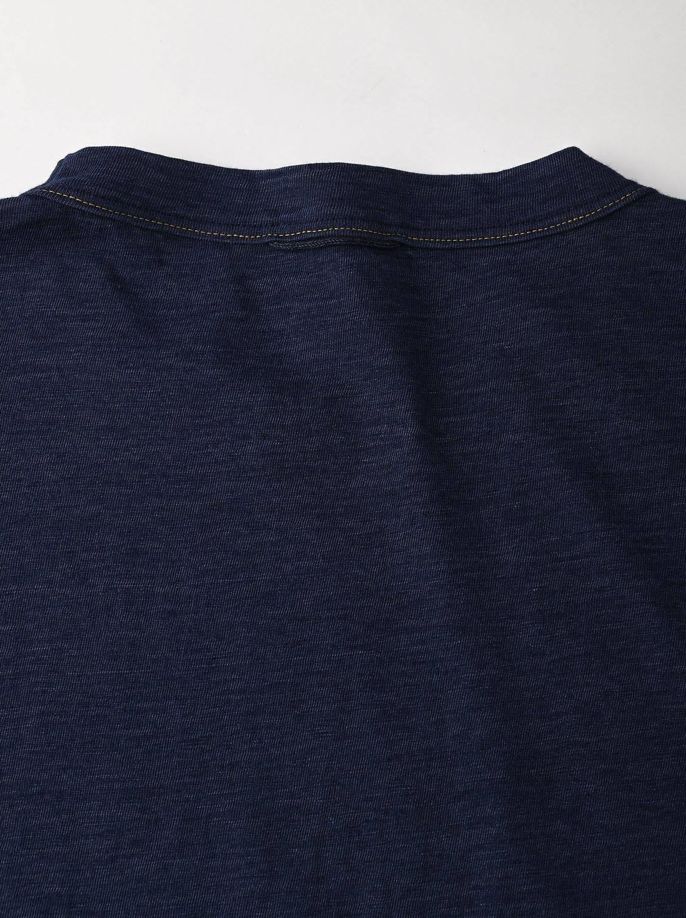 Indigo Hayama-kun Embroidered 908 Ocean T-shirt (0621)-8