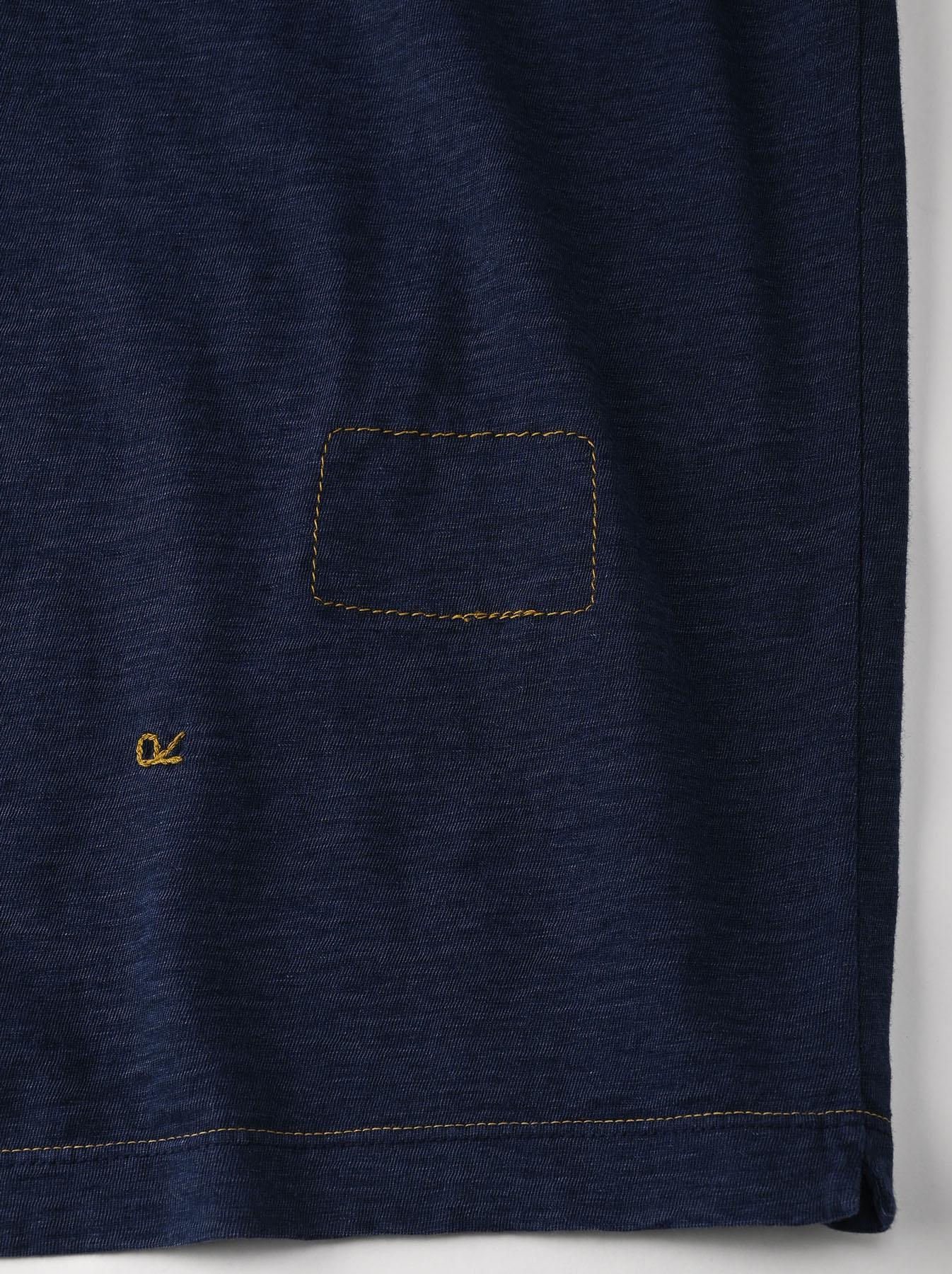 Indigo Hayama-kun Embroidered 908 Ocean T-shirt (0621)-11