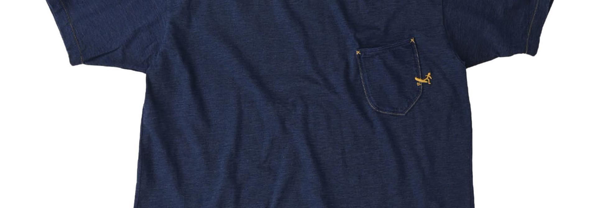 Indigo Hayama-kun Embroidered 908 Ocean T-shirt (0621)