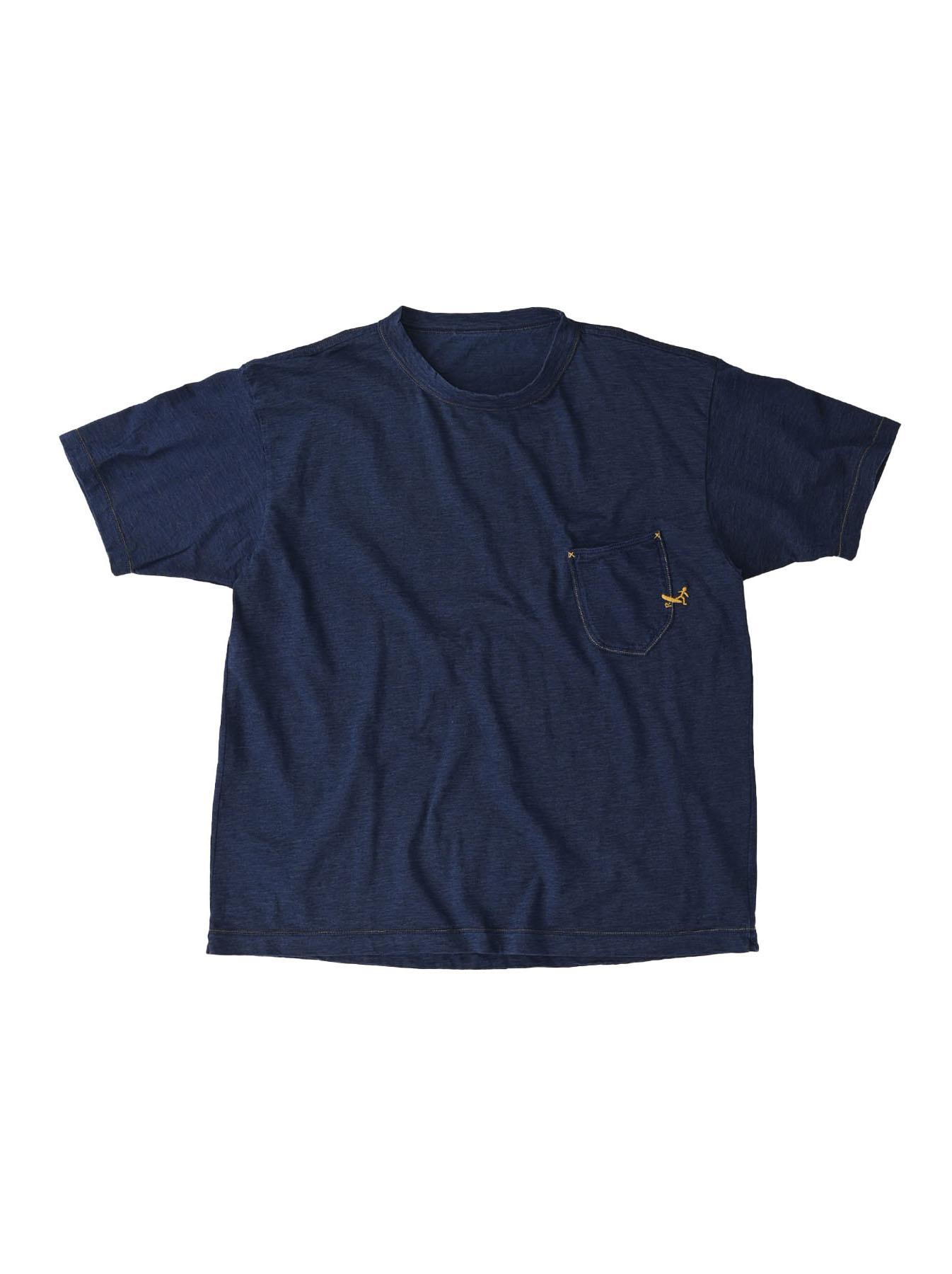 Indigo Hayama-kun Embroidered 908 Ocean T-shirt (0621)-1
