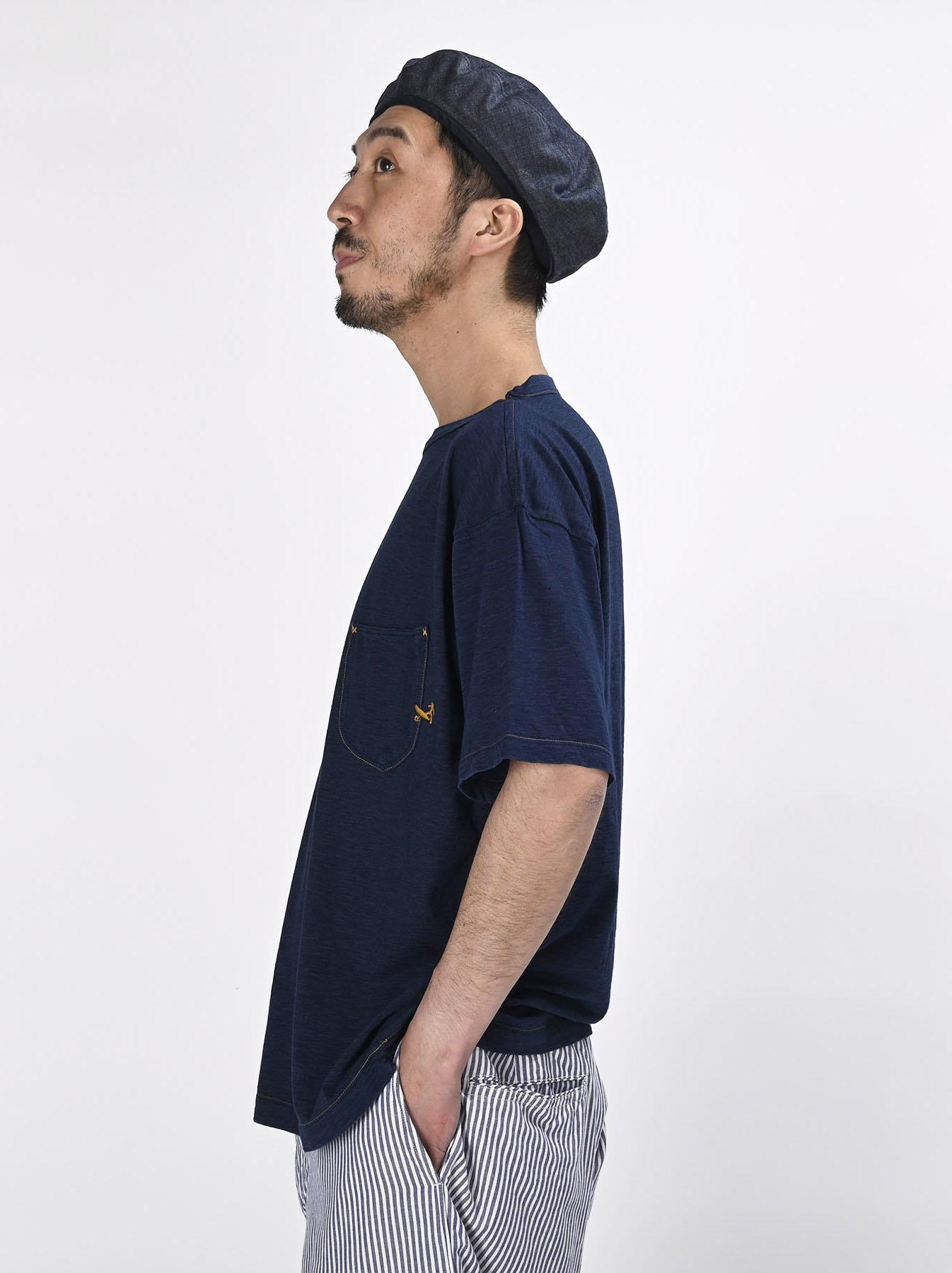 Indigo Hayama-kun Embroidered 908 Ocean T-shirt (0621)-4