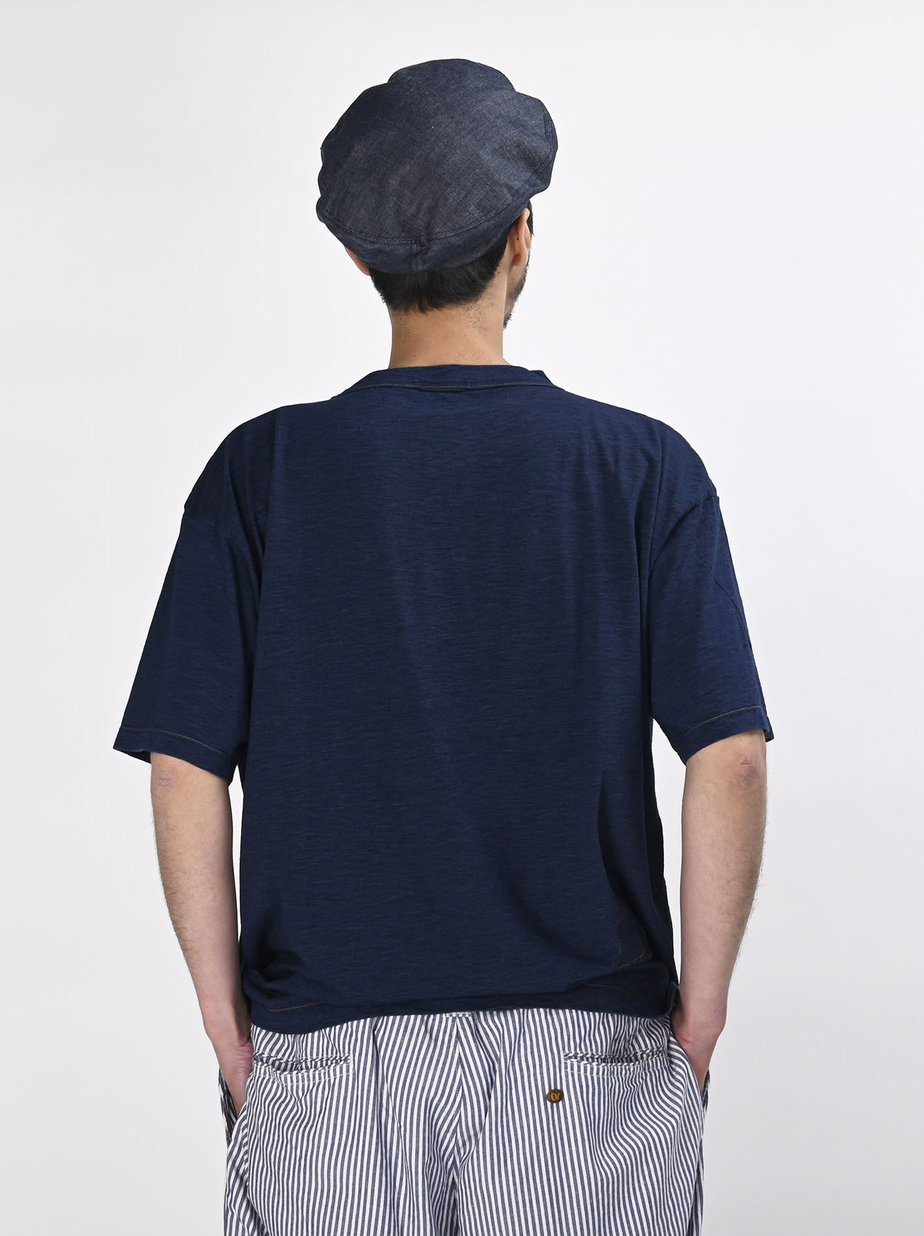 Indigo Hayama-kun Embroidered 908 Ocean T-shirt (0621)-5