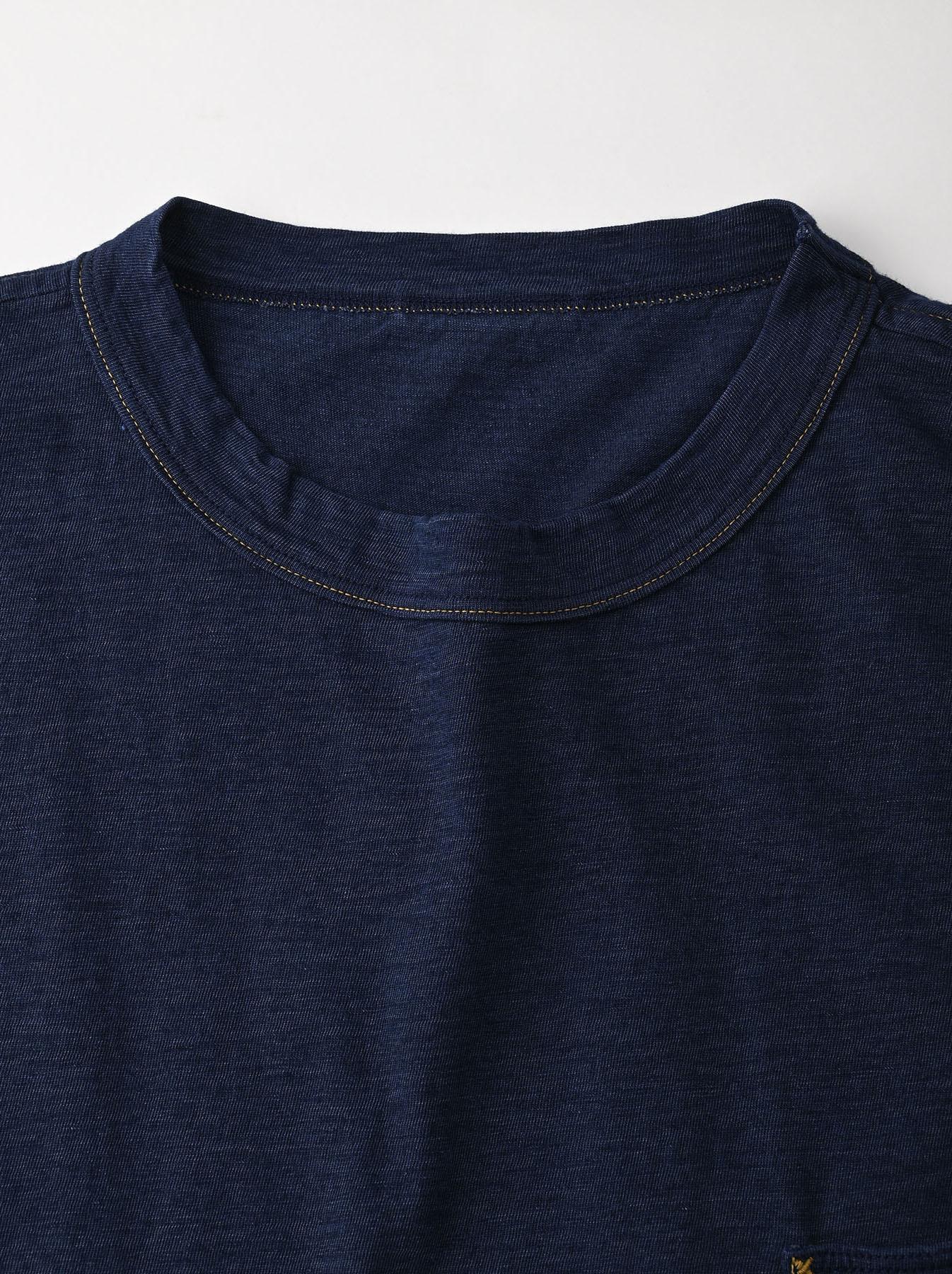 Indigo Hayama-kun Embroidered 908 Ocean T-shirt (0621)-7