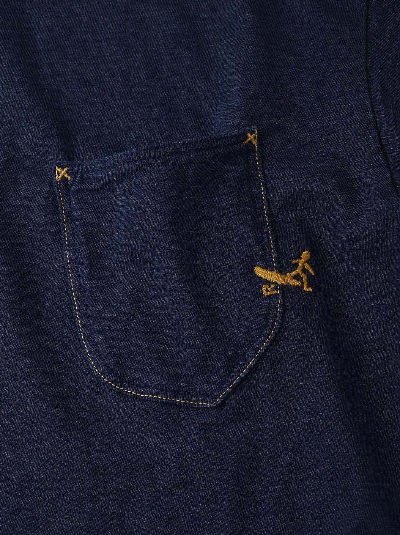 Indigo Hayama-kun Embroidered 908 Ocean T-shirt (0621)-10