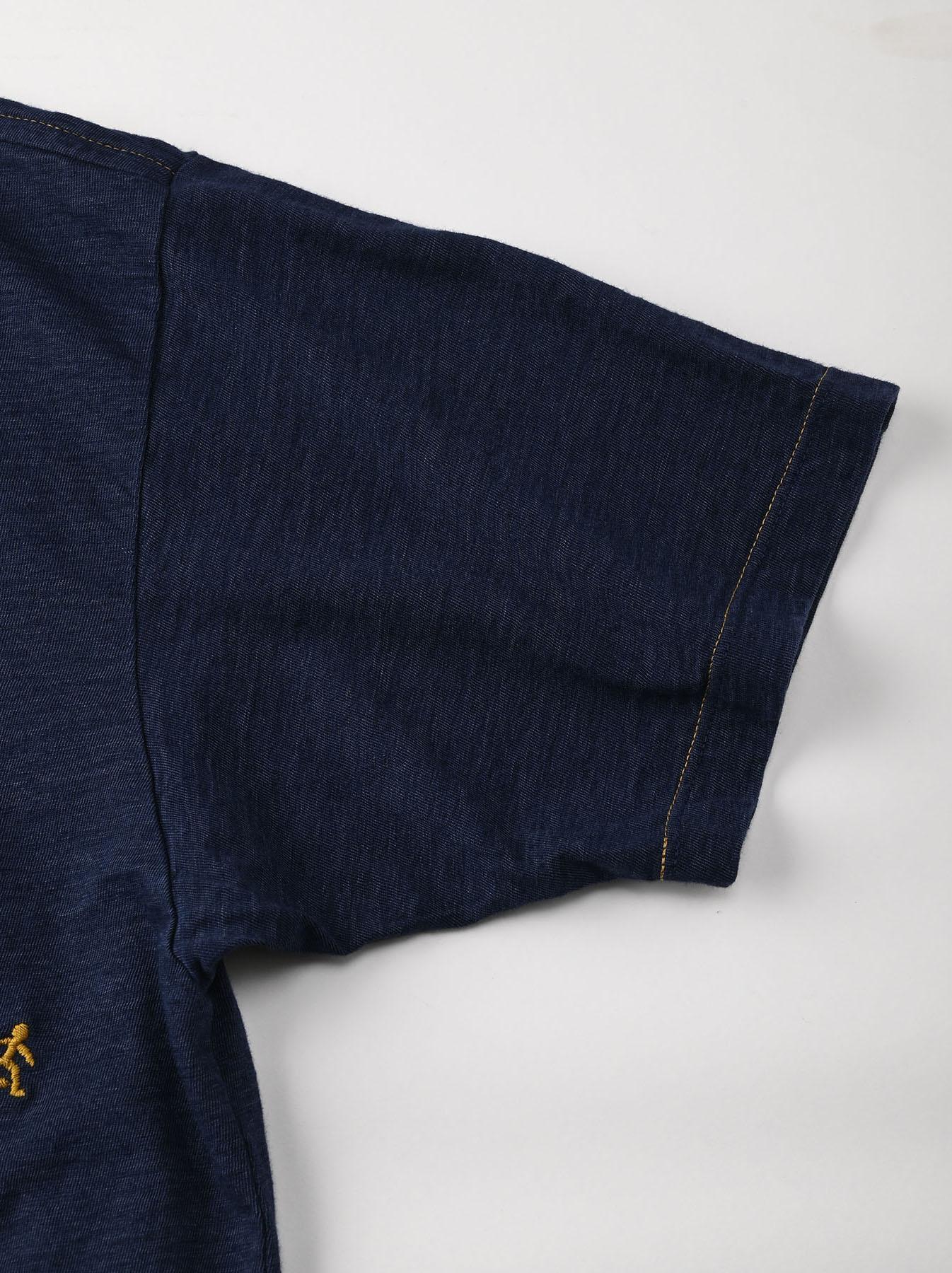 Indigo Hayama-kun Embroidered 908 Ocean T-shirt (0621)-9