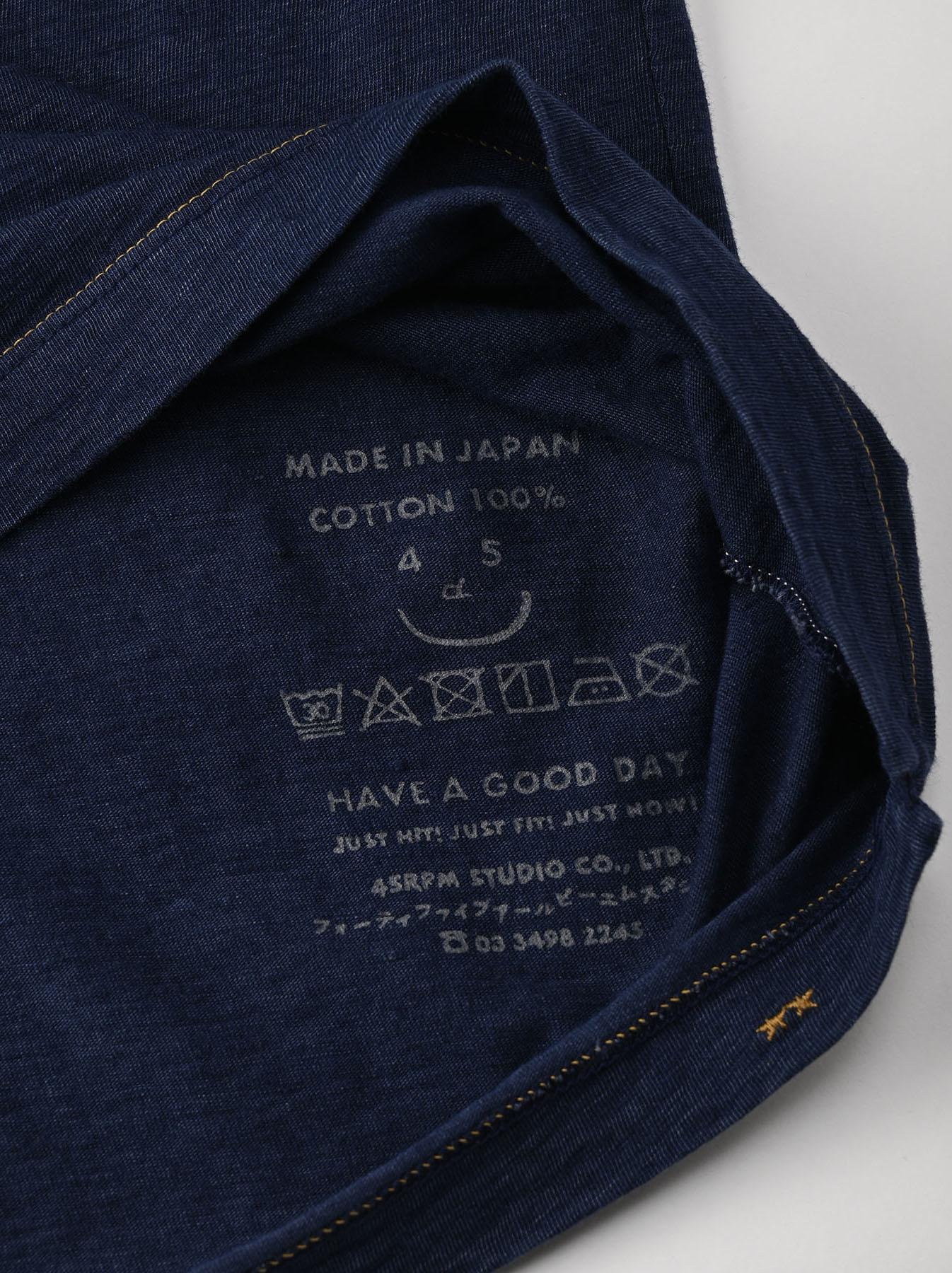 Indigo Hayama-kun Embroidered 908 Ocean T-shirt (0621)-12