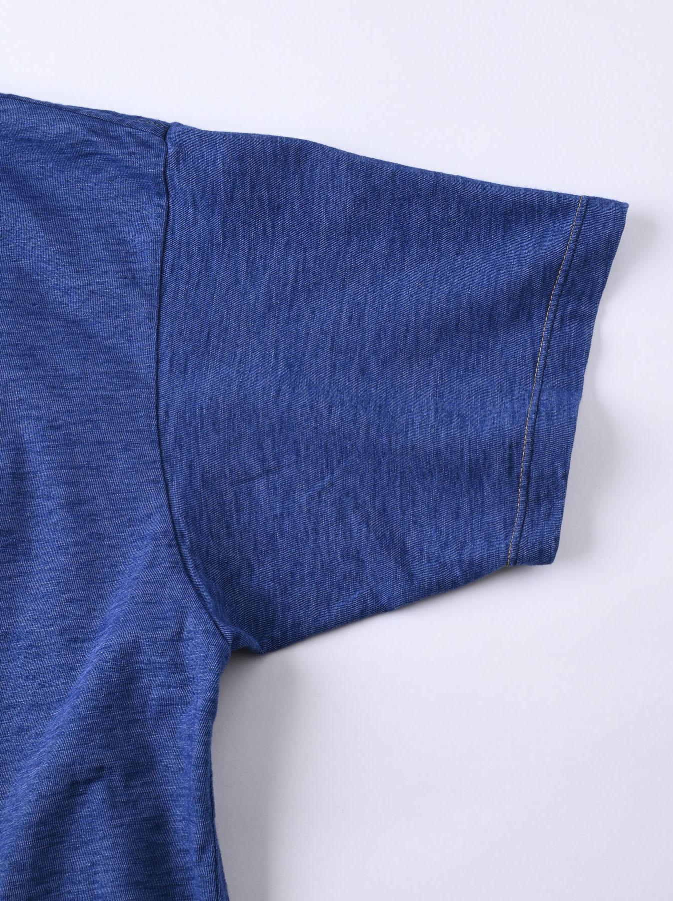 Indigo Tenjiku Lei Frill Ocean T-shirt (0621)-10