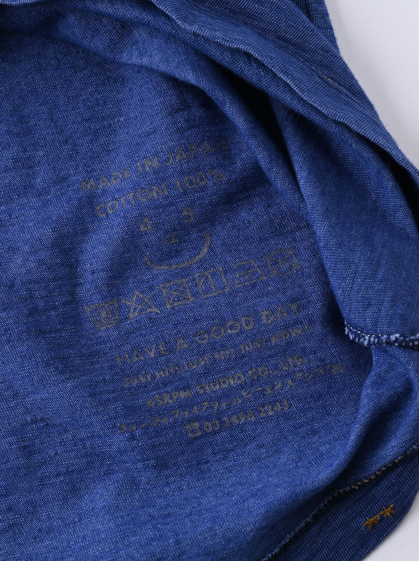 Indigo Tenjiku Lei Frill Ocean T-shirt (0621)-11