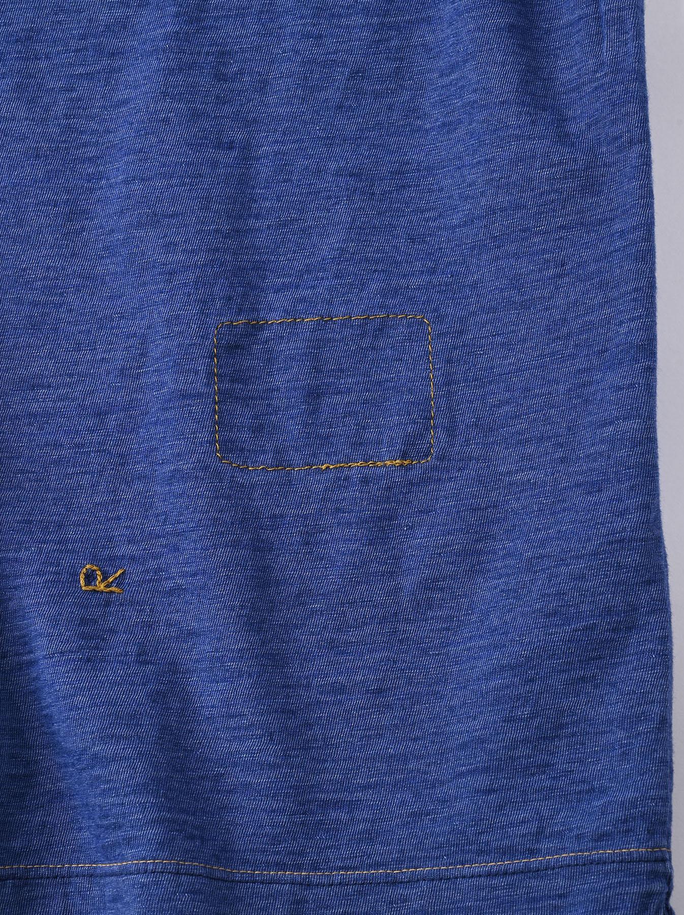 Indigo Tenjiku Lei Frill Ocean T-shirt (0621)-12