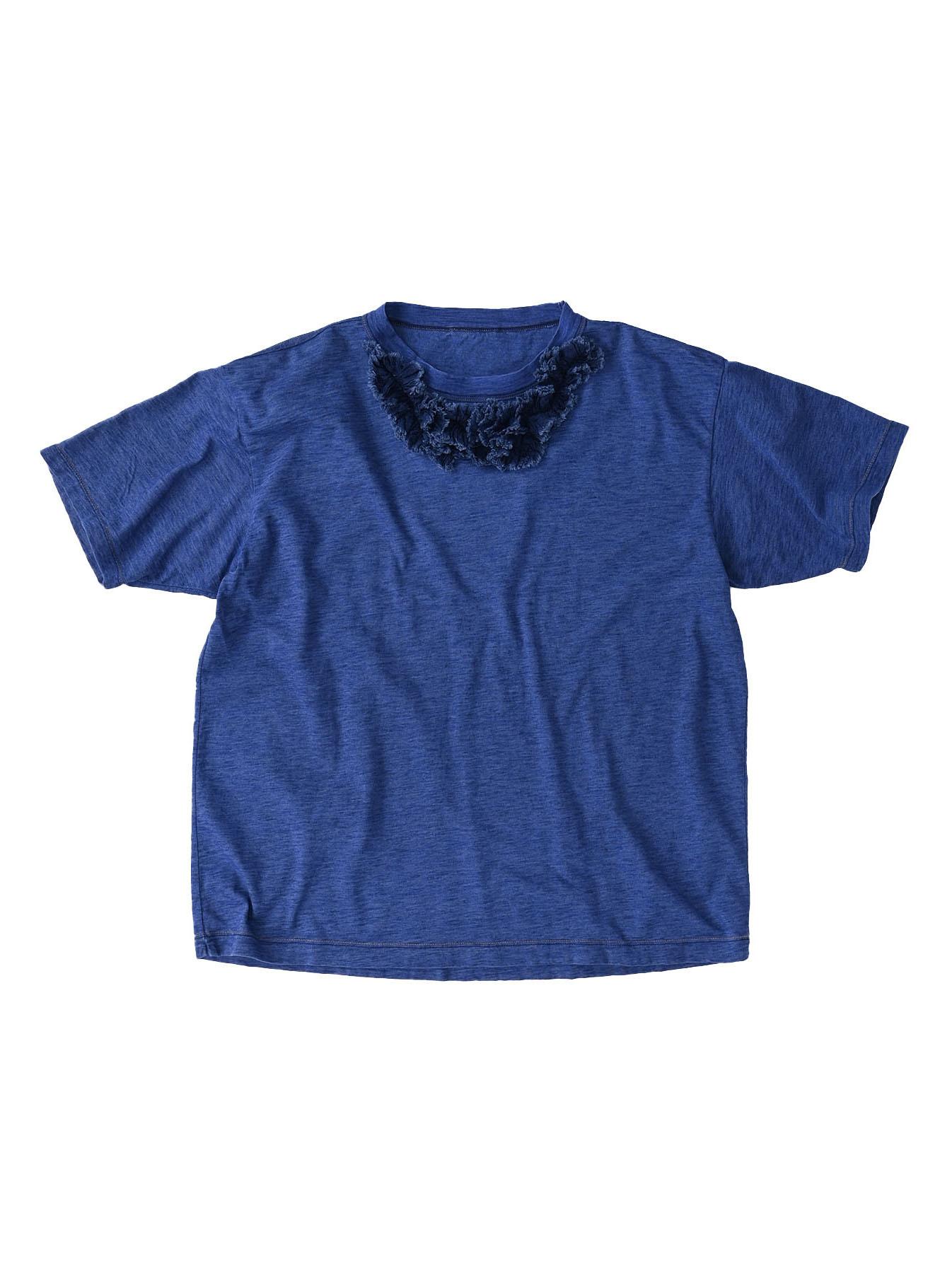 Indigo Tenjiku Lei Frill Ocean T-shirt (0621)-1