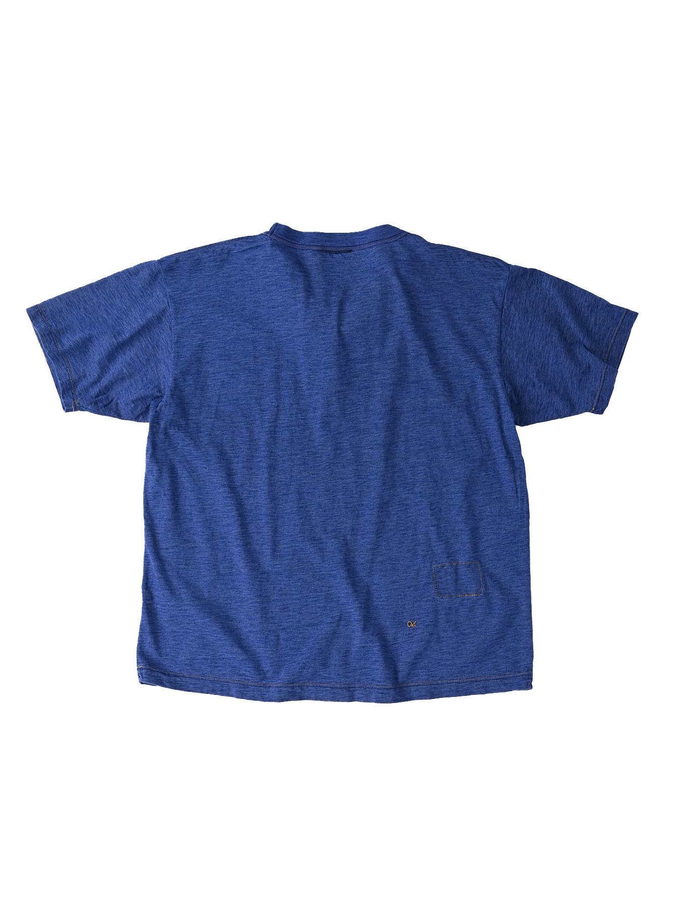 Indigo Tenjiku Lei Frill Ocean T-shirt (0621)-6
