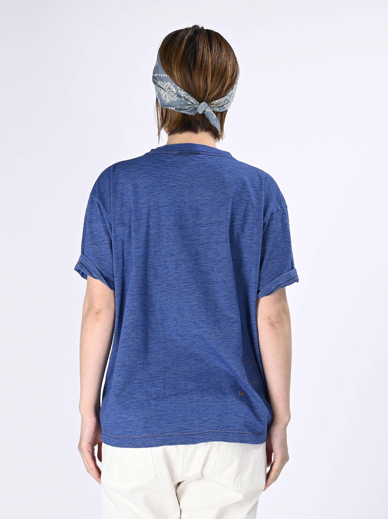 Indigo Tenjiku Lei Frill Ocean T-shirt (0621)-5