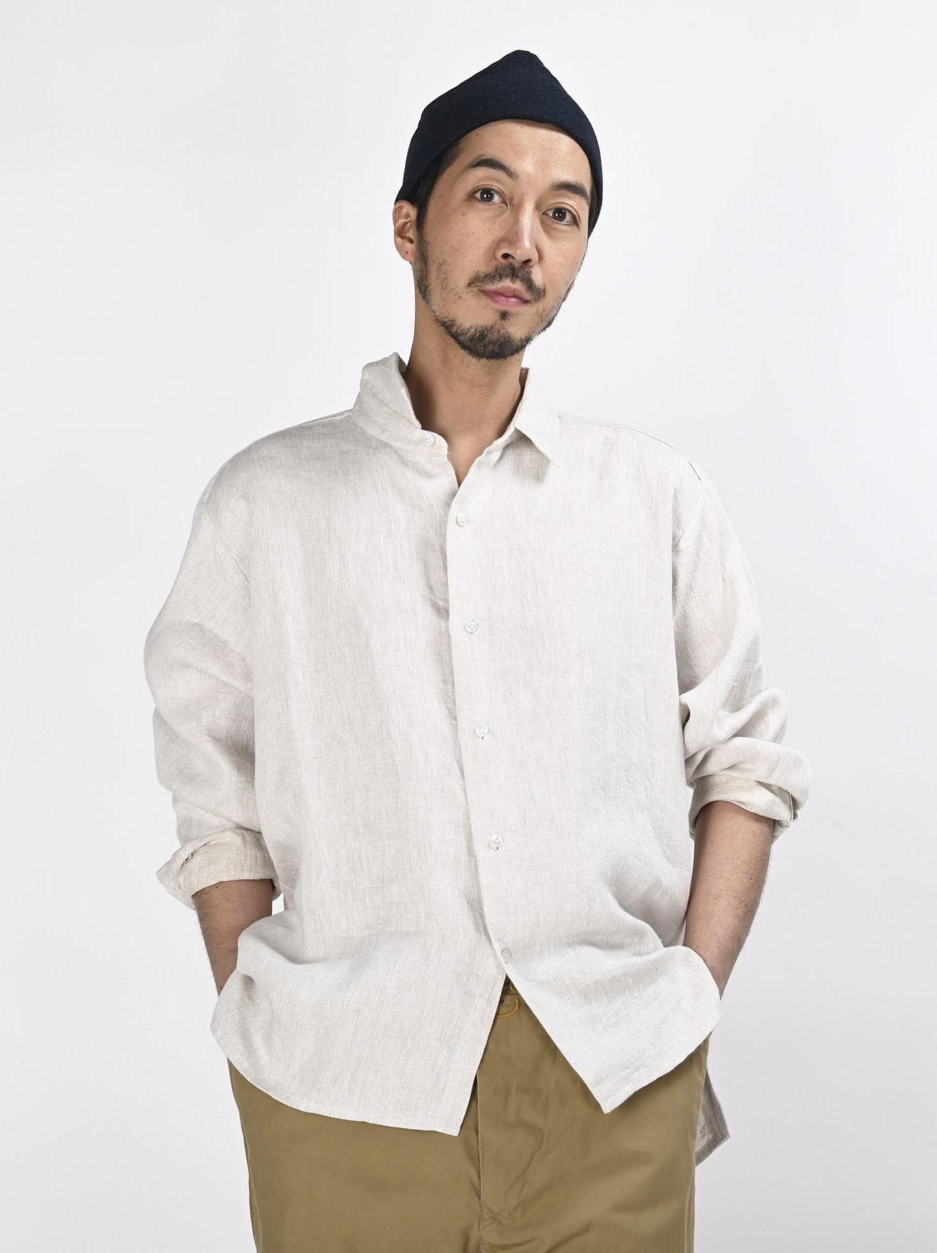 Indian Linen Twill 908 Shirt (0621)-6