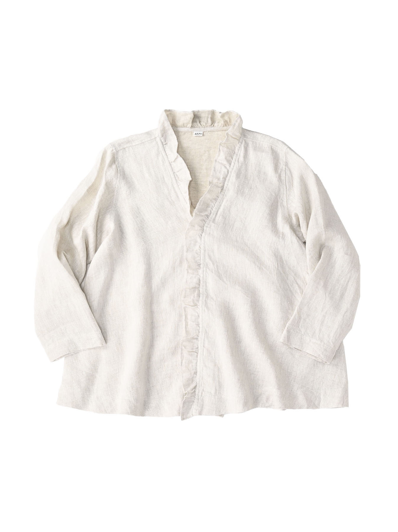 Indian Linen Twill Cache-coeur Blouse (0621)-3