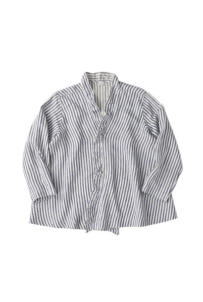 Indian Linen Twill Cache-coeur Blouse (0621)