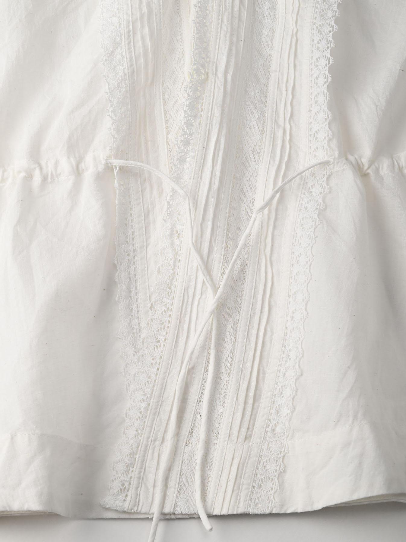 Indian Khadi Lace Cache-coeur Blouse (0621)-10