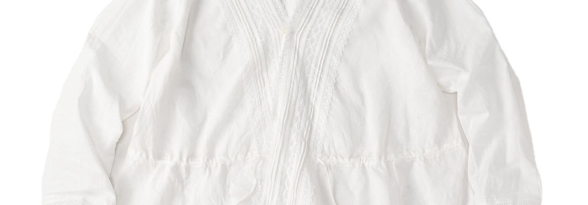 Indian Khadi Lace Cache-coeur Blouse (0621)