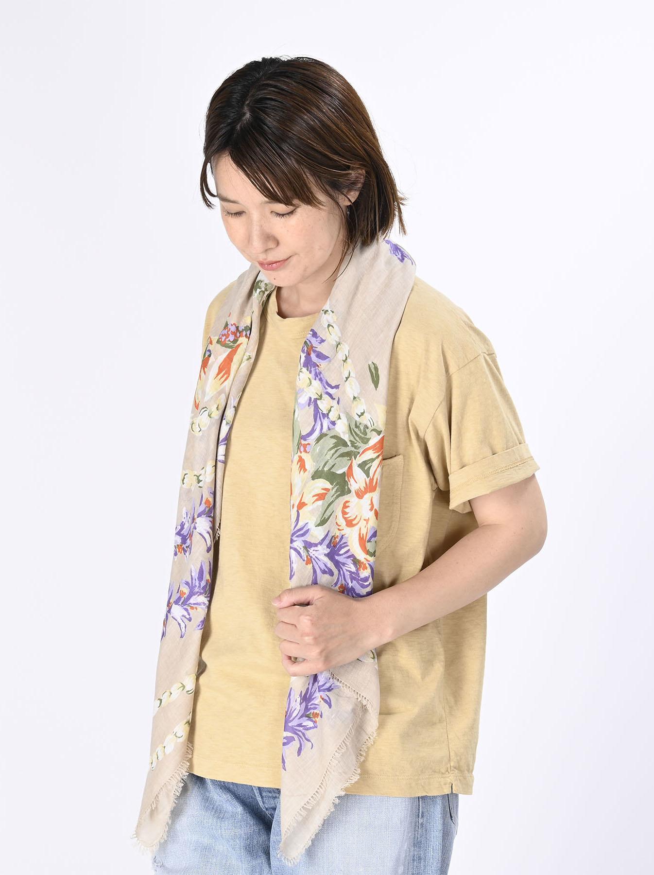 Organic Supima Cotton Aloha Flower Wreath Furoshikii 2 (0621)-5