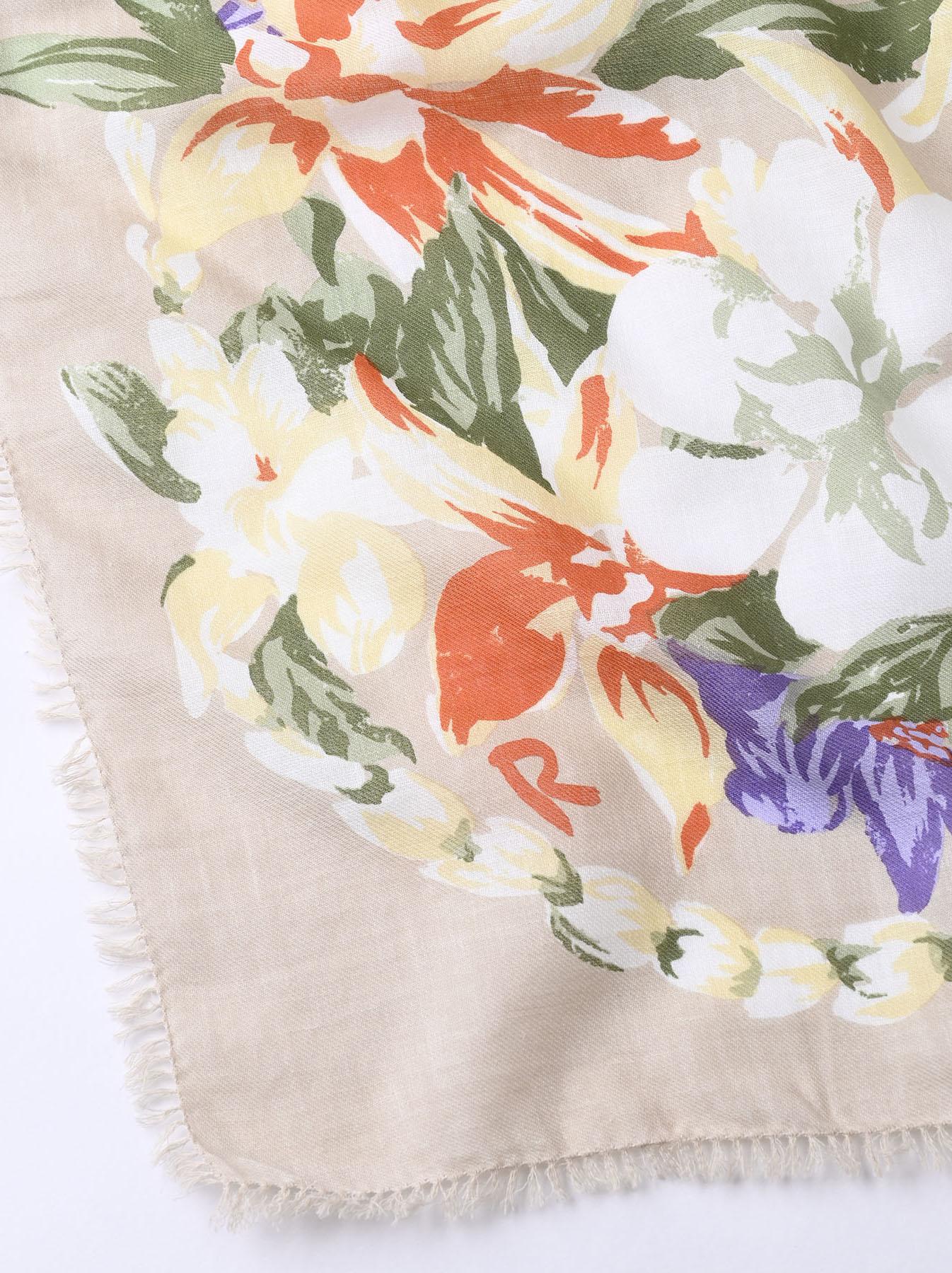Organic Supima Cotton Aloha Flower Wreath Furoshikii 2 (0621)-6