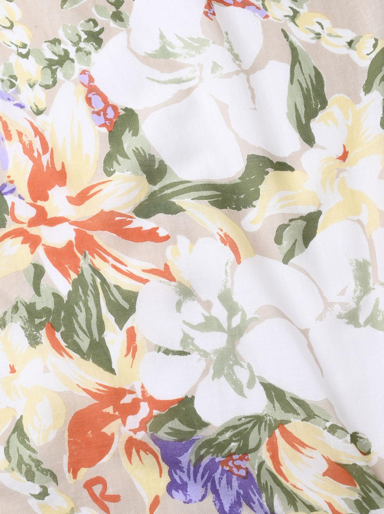 Organic Supima Cotton Aloha Flower Wreath Furoshikii 2 (0621)-7