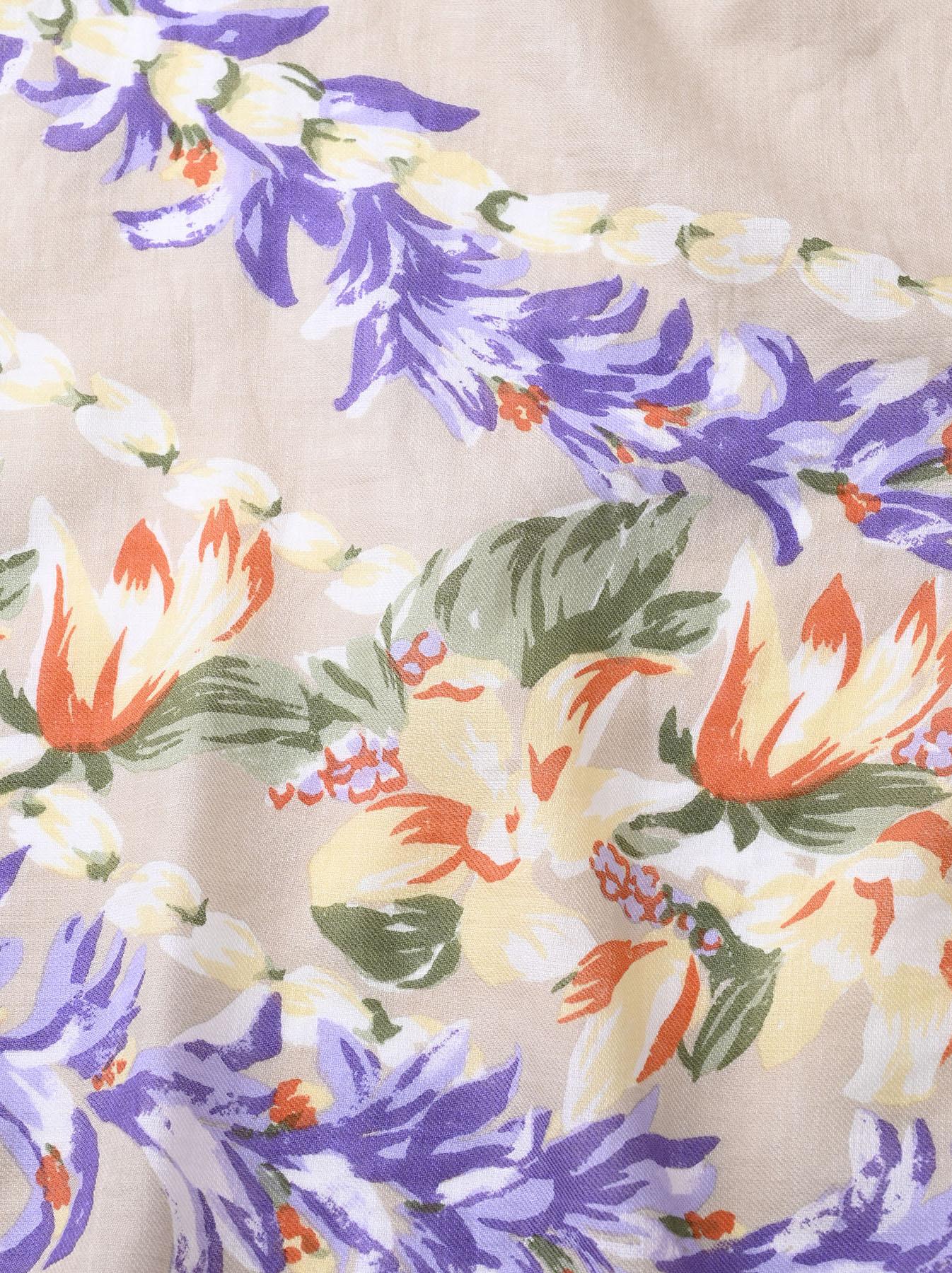 Organic Supima Cotton Aloha Flower Wreath Furoshikii 2 (0621)-9