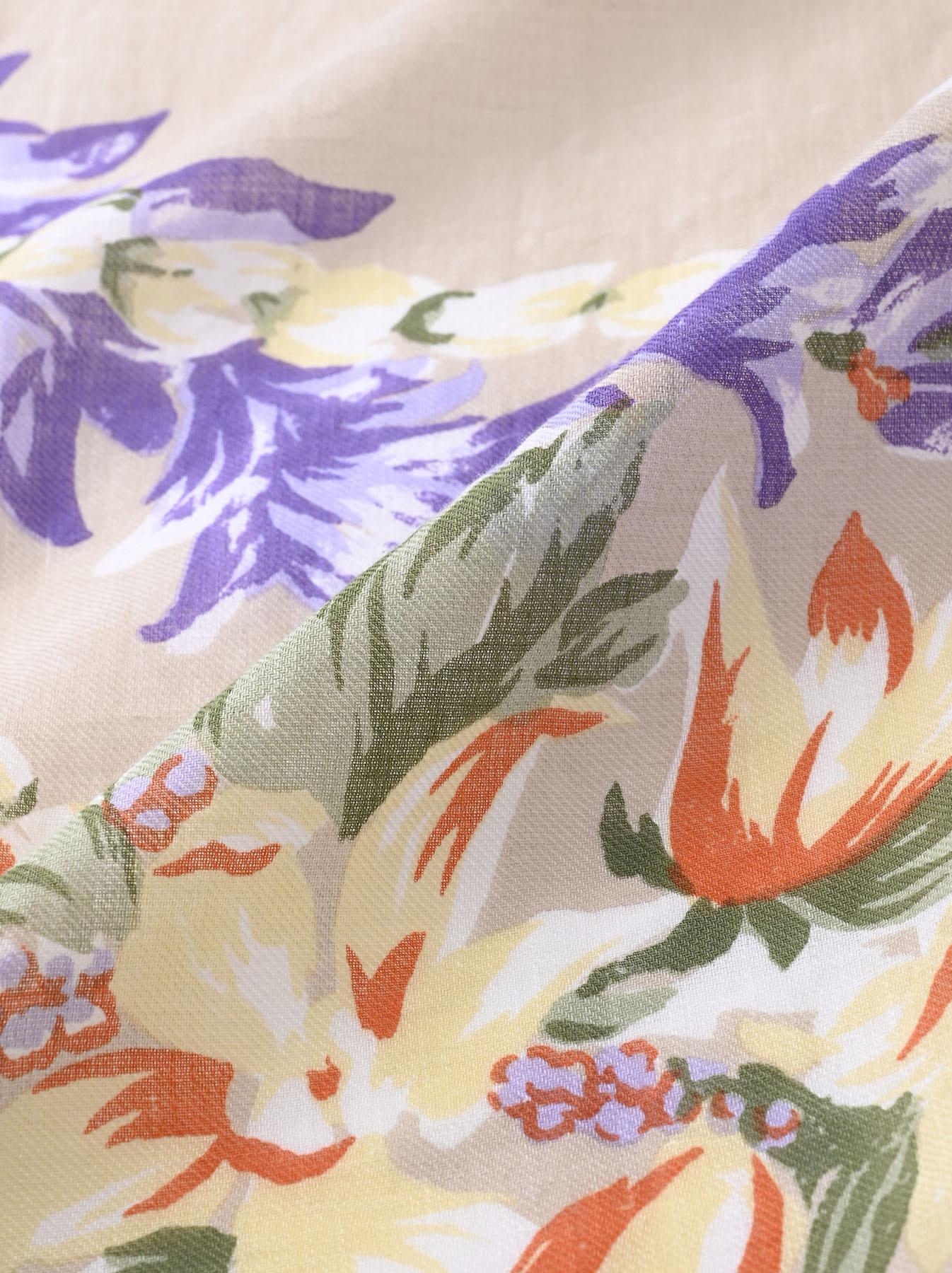 Organic Supima Cotton Aloha Flower Wreath Furoshikii 2 (0621)-10