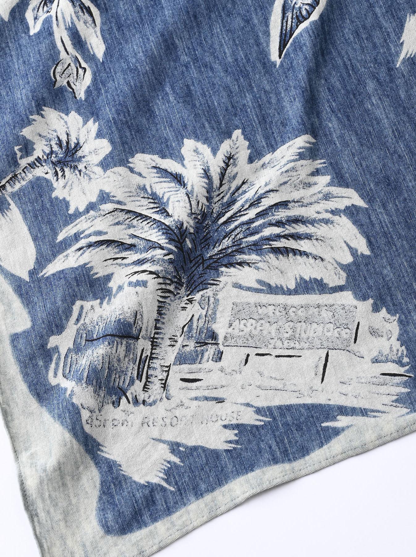 Indigo Tenjiku Palm Aloha Bandana (0621)-4