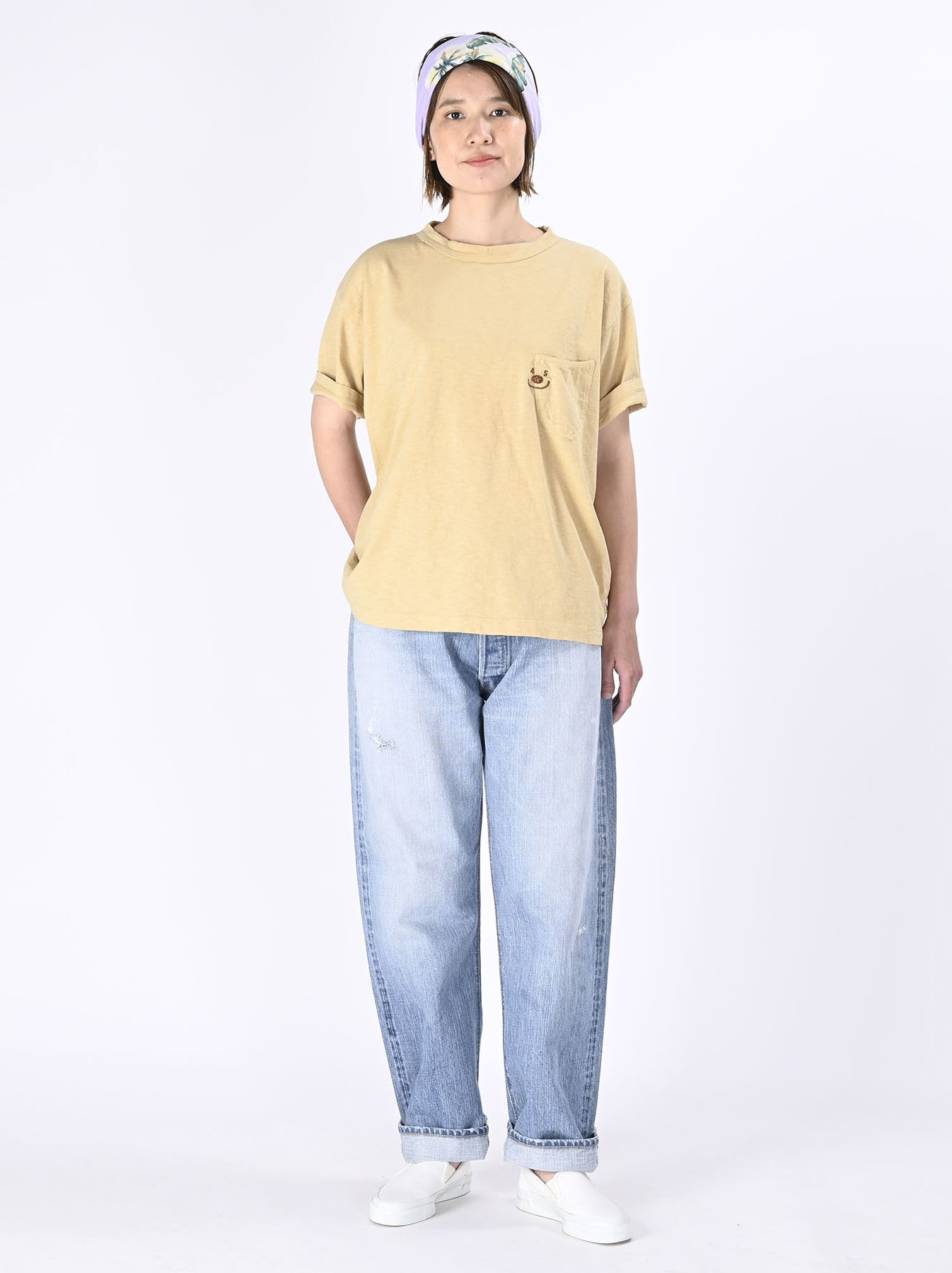 Smile R Embroidery 908 Ocean T-shirt (0621)-3